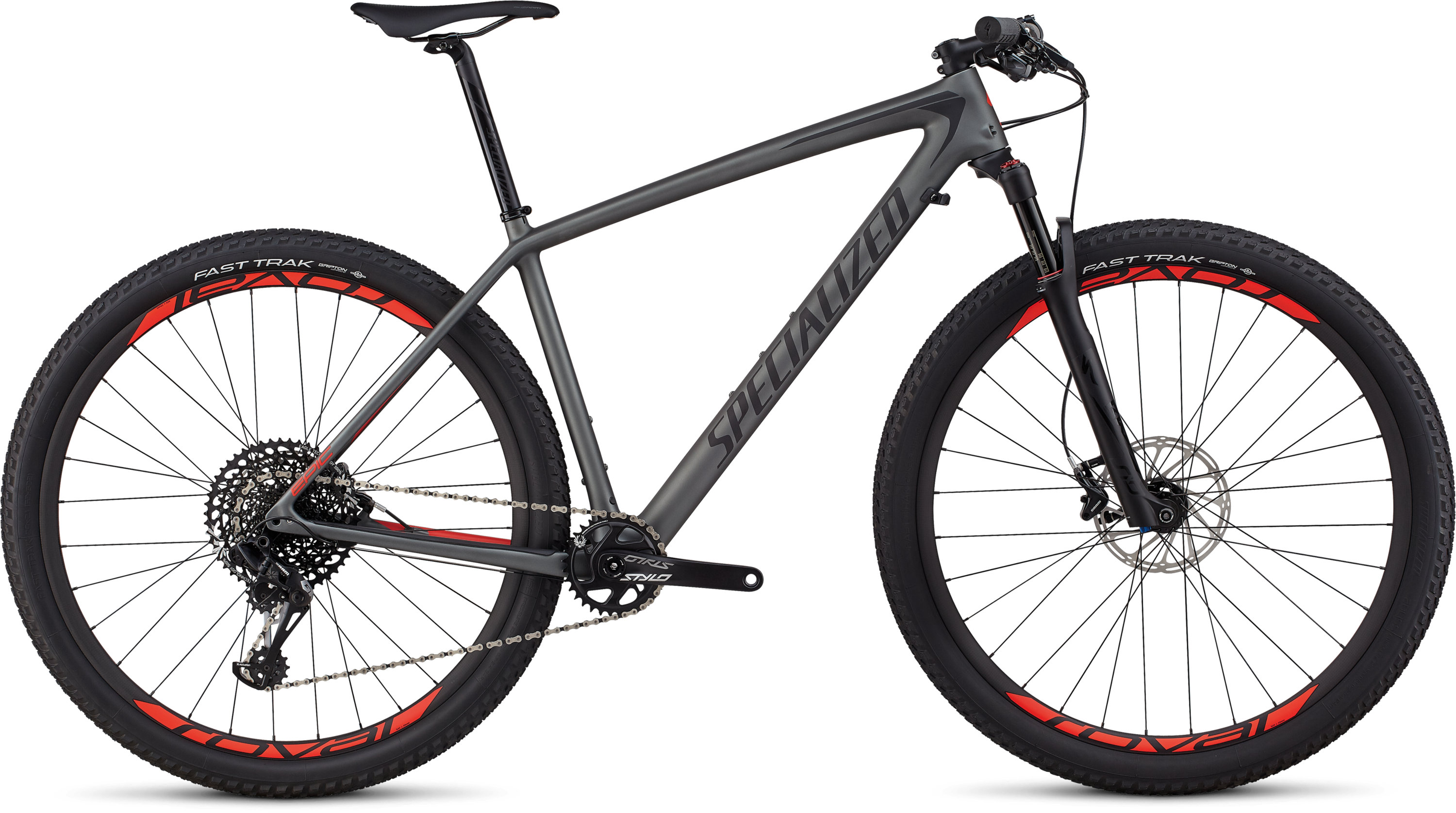 Specialized Men´s Epic Hardtail Expert SATIN CHARCOAL / BLACK / ROCKET RED S - Pulsschlag Bike+Sport