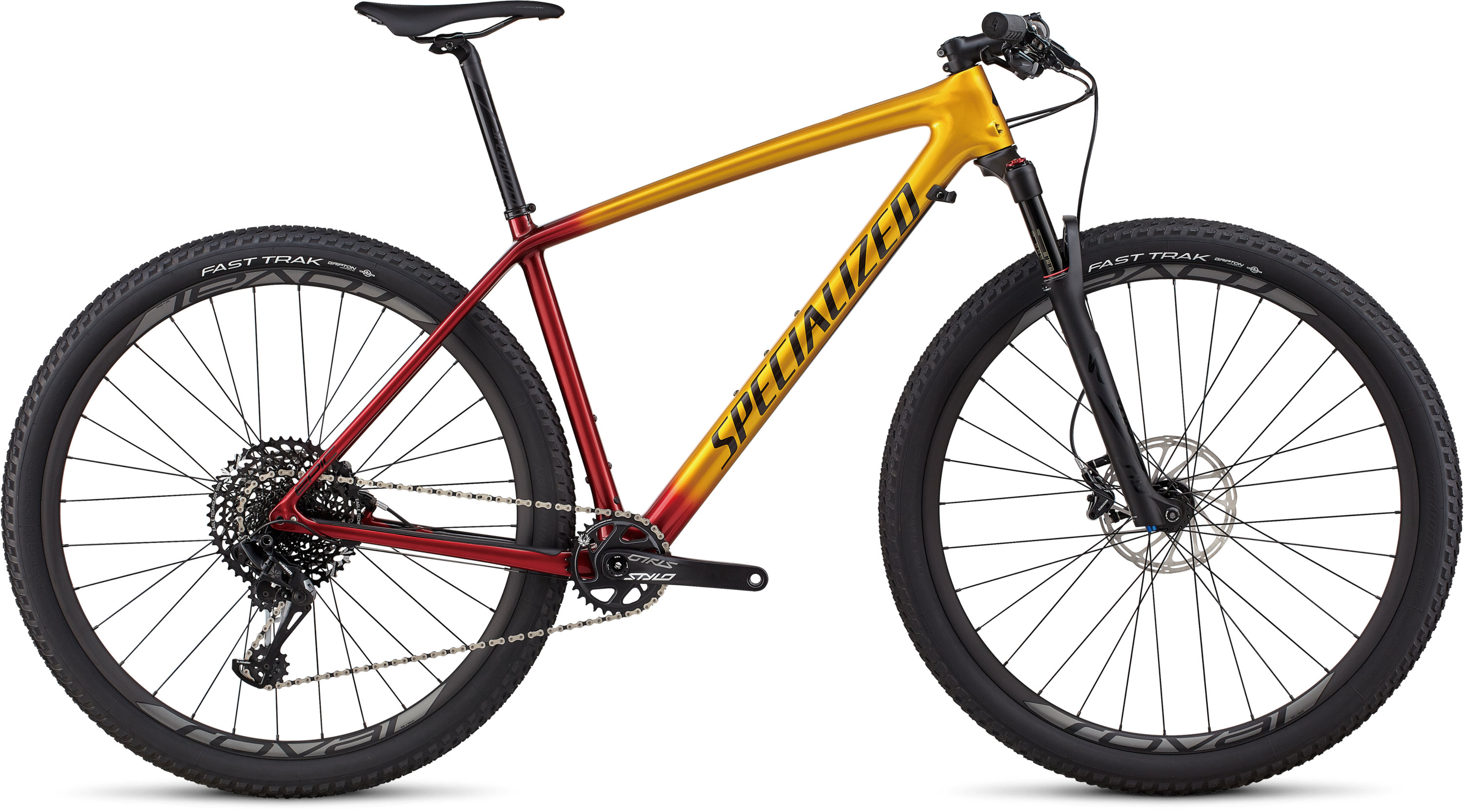 Specialized Men´s Epic Hardtail Expert GLOSS GOLD / CANDY RED / COSMIC BLACK L - Pulsschlag Bike+Sport