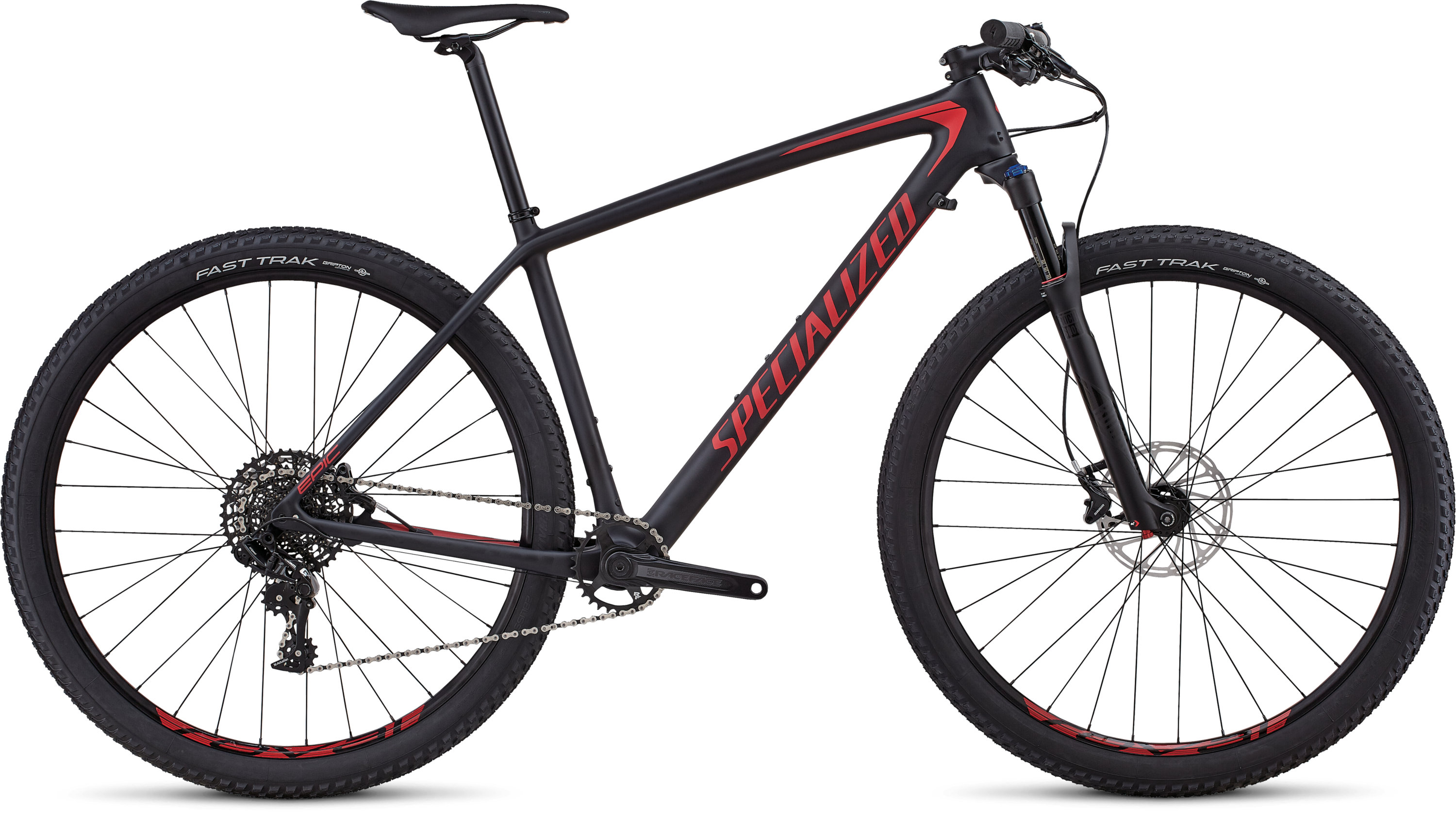 Specialized Men´s Epic Hardtail Comp SATIN BLACK / FLO RED M - Pulsschlag Bike+Sport