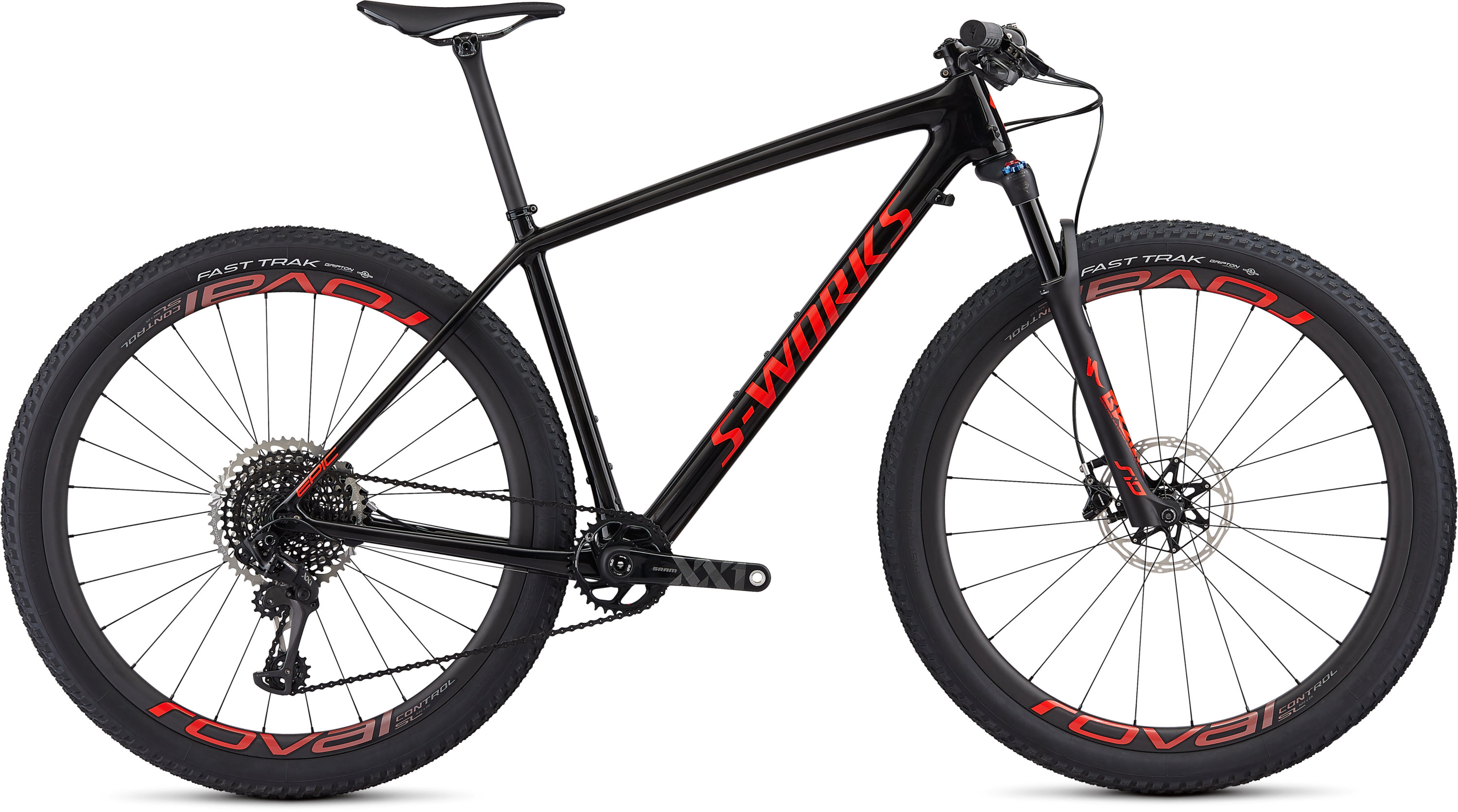 Specialized S-Works Epic Hardtail Gloss Carbon/Rocket Red L - Pulsschlag Bike+Sport