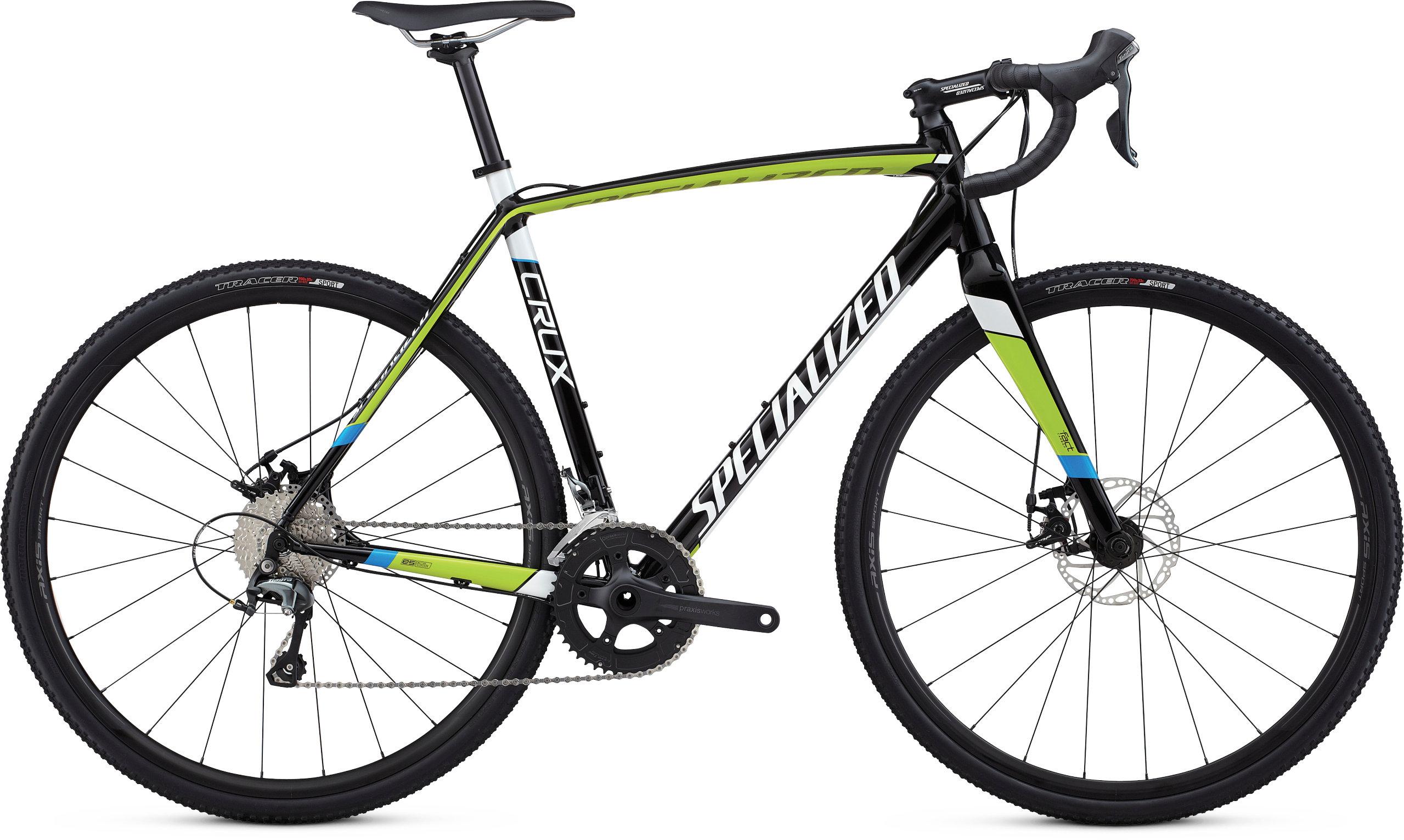 Specialized CruX E5 TARMAC BLACK / HYPER / METALLIC WHITE 49 - Pulsschlag Bike+Sport
