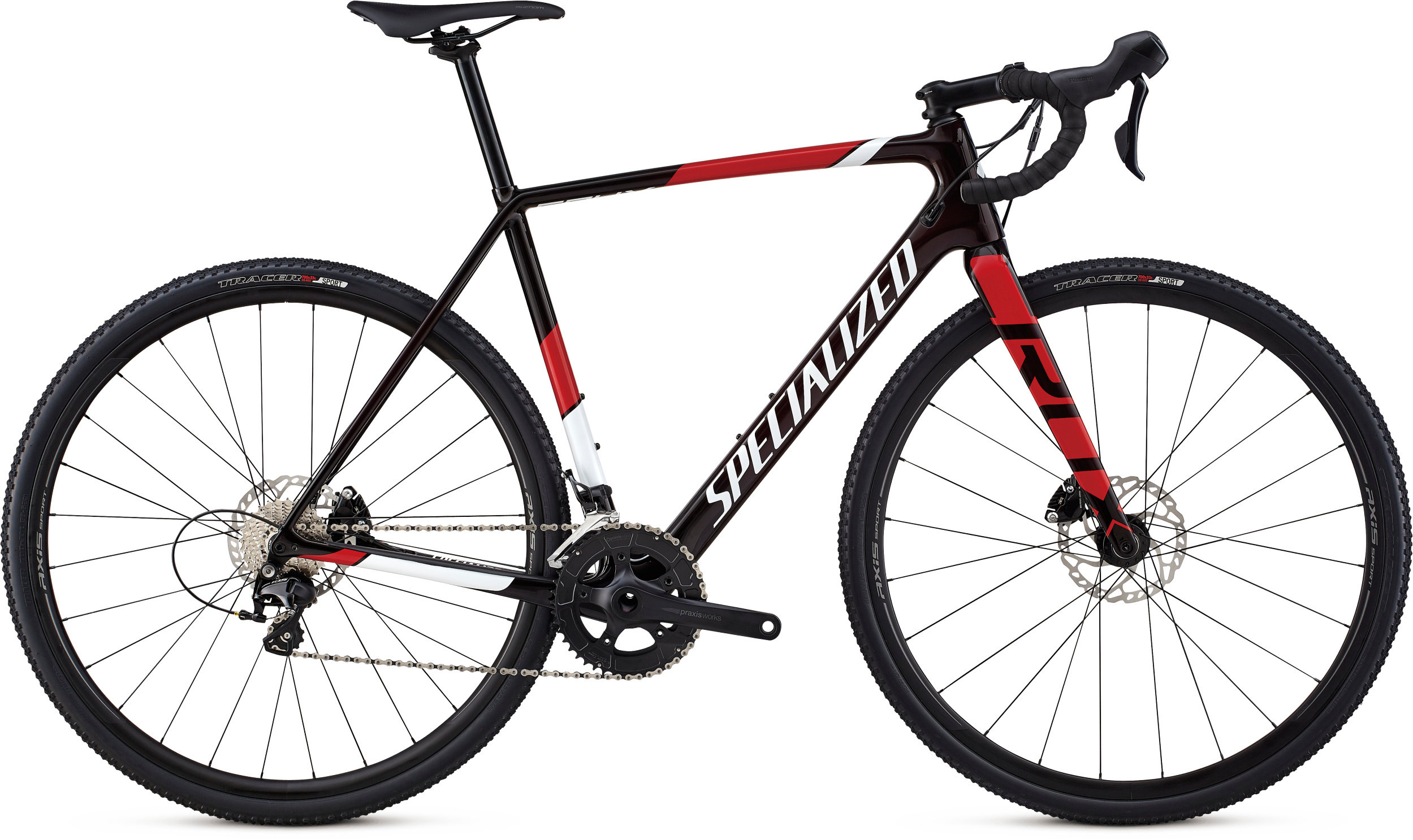 Specialized CruX Sport Gloss Red Tint/ Metallic White Silver/ Flo Red 49 - Pulsschlag Bike+Sport