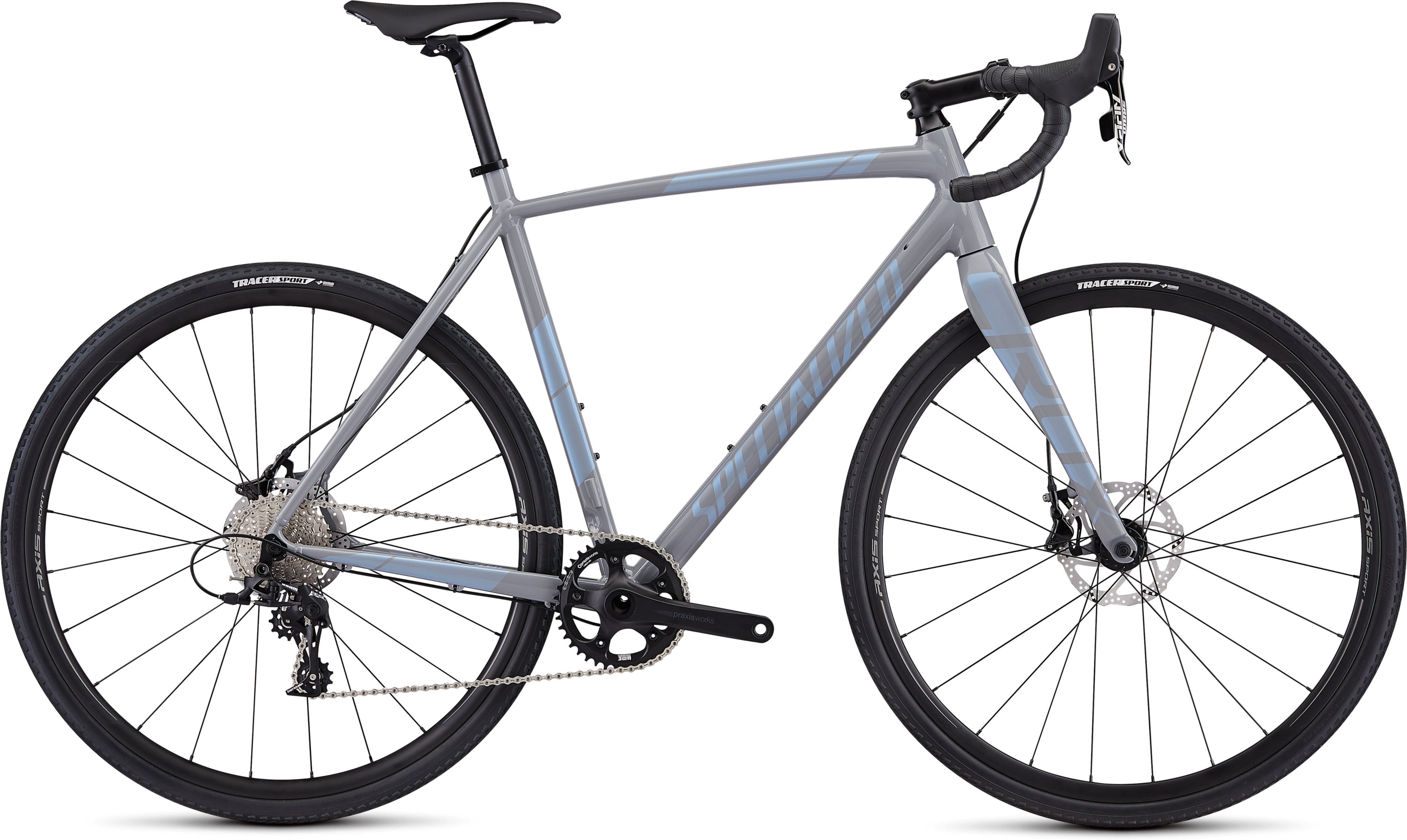 Specialized CruX E5 Sport Gloss Cool Grey/Blue Ghost Pearl 58 - Pulsschlag Bike+Sport