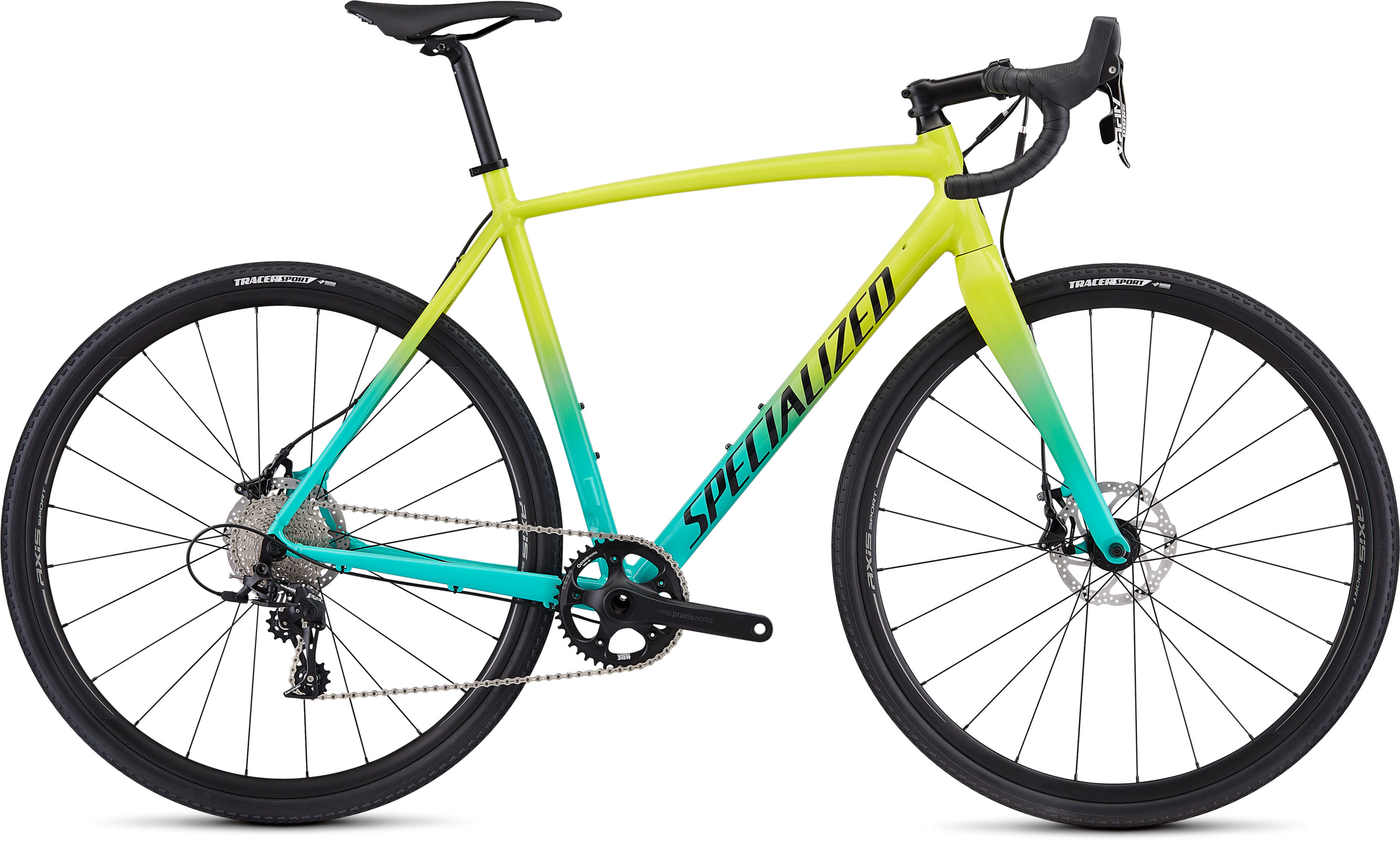 Specialized CruX E5 Sport Gloss Team Yellow/Acid Mint/Tarmac Black/Clean 49 - Bartz Bikesystem & Velodepot