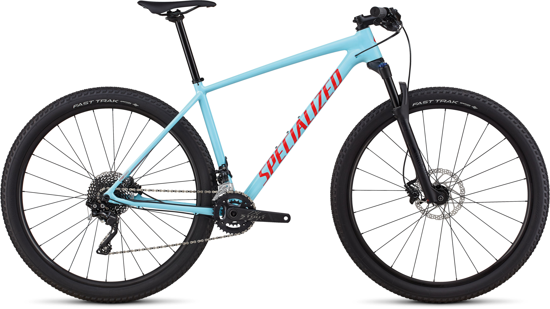 Specialized Men´s Chisel Comp Gloss Light Blue / Rocket Red L - Pulsschlag Bike+Sport