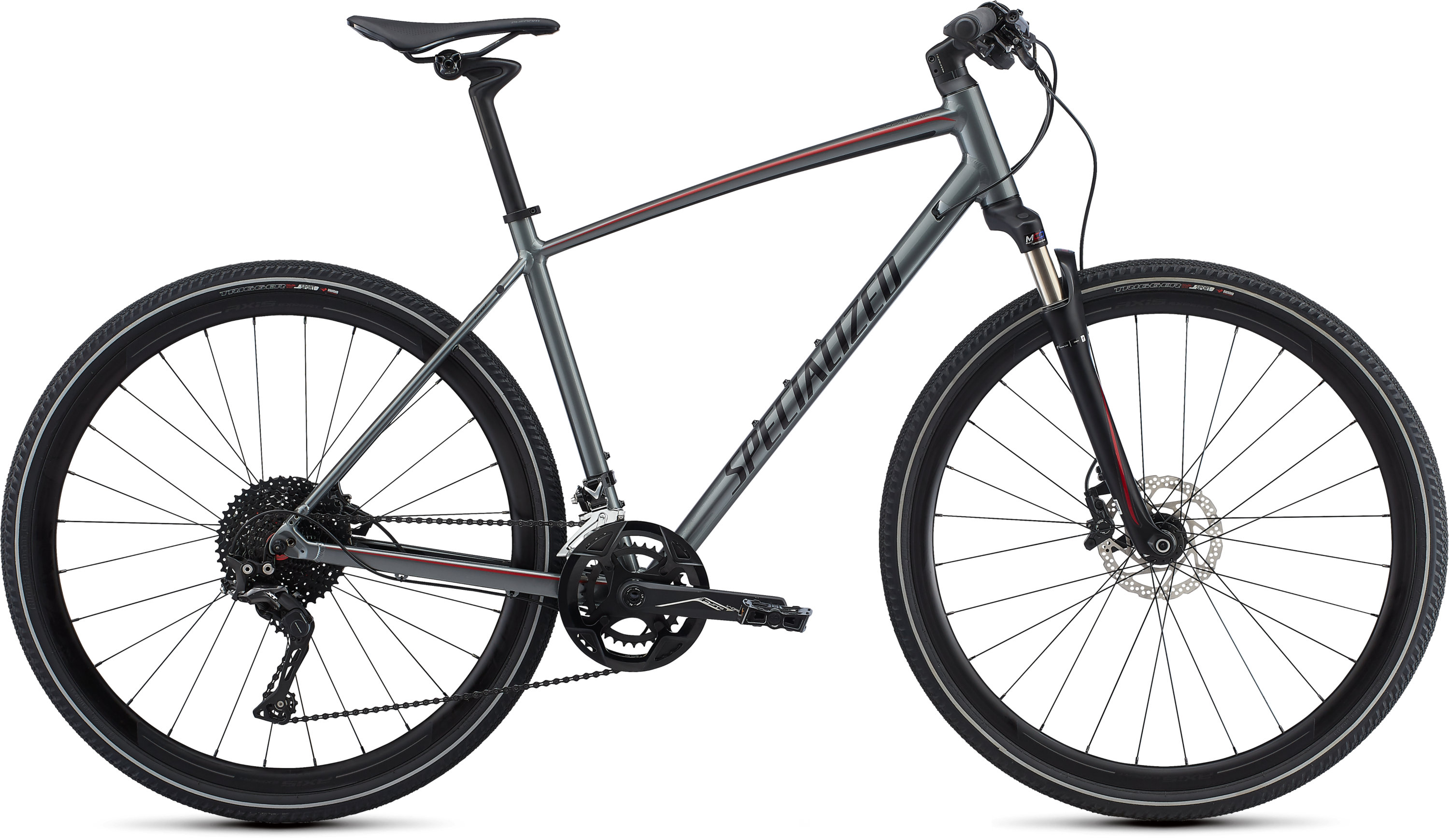 Specialized CrossTrail Expert INT Charcoal/Candy Red/Black Reflective L - Pulsschlag Bike+Sport