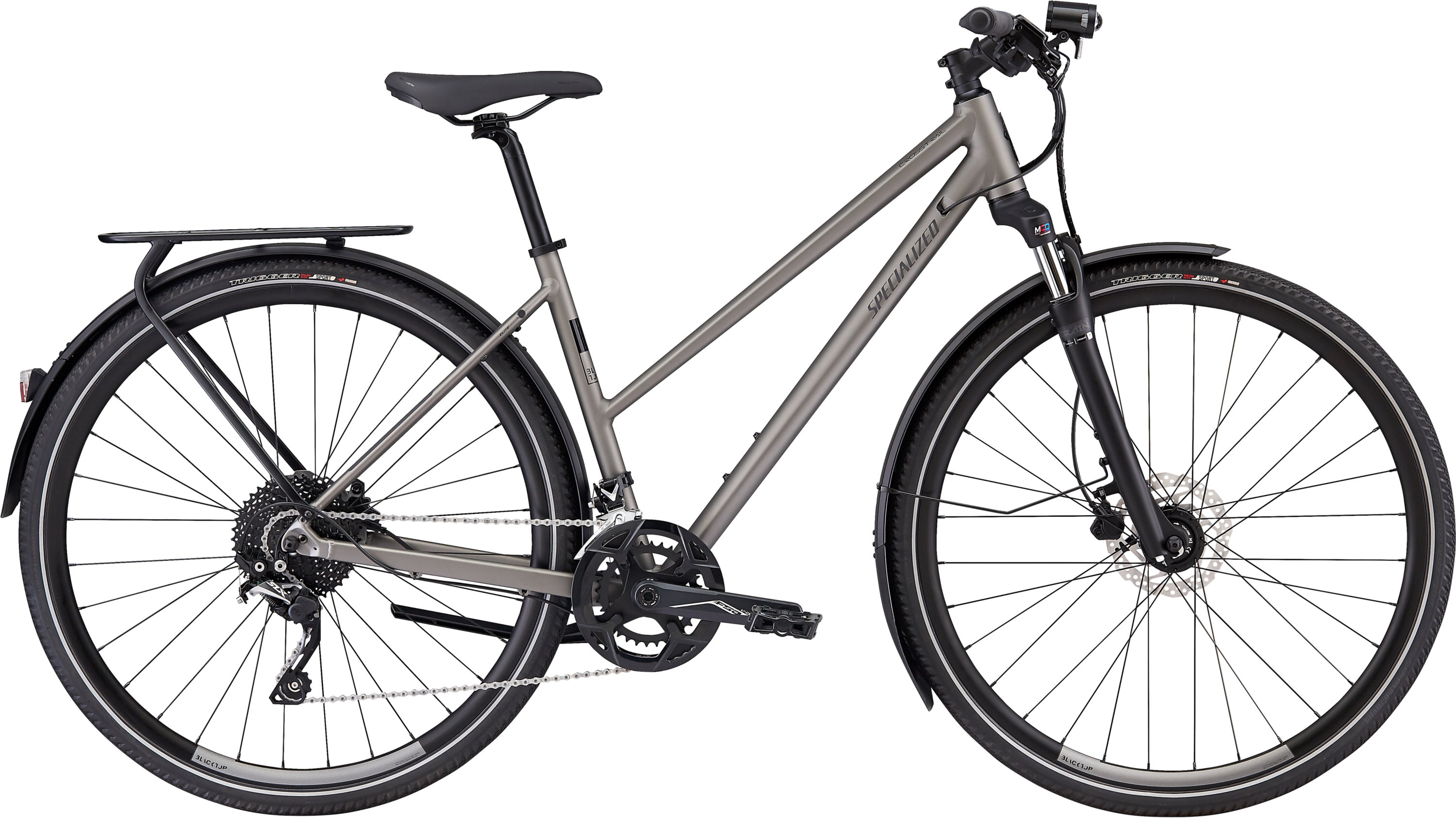 Specialized CrossTrail Elite EQ Step-Through Black Top Collection Satin Brushed L - Pulsschlag Bike+Sport
