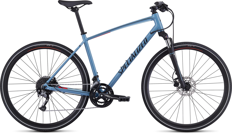 Specialized CrossTrail Sport Gloss Storm Grey/Rocket Red/Black Reflective L - Pulsschlag Bike+Sport