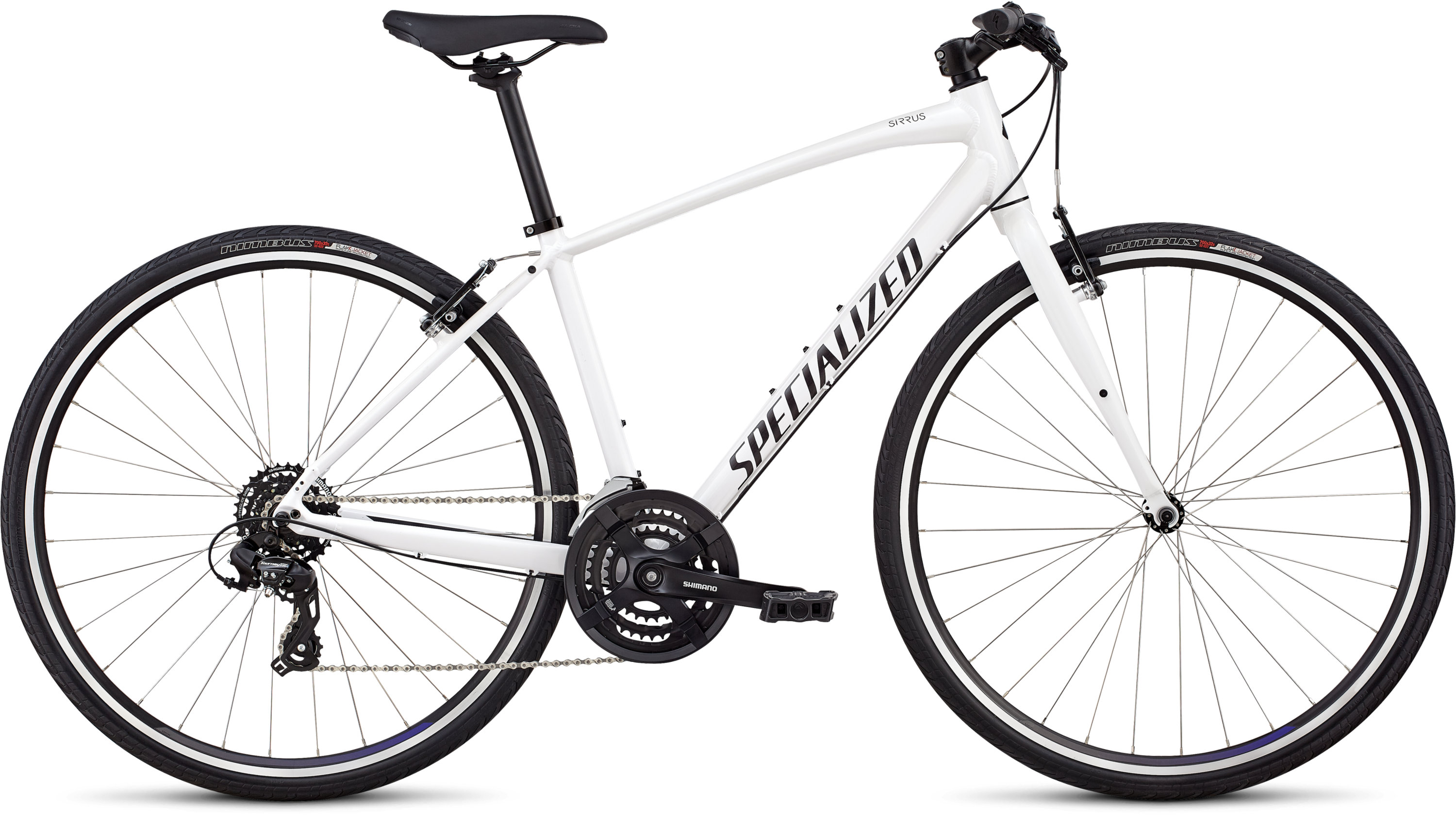 Specialized Women´s Sirrus - V-Brake Metallic White/Tarmac Black/Floral L - Pulsschlag Bike+Sport