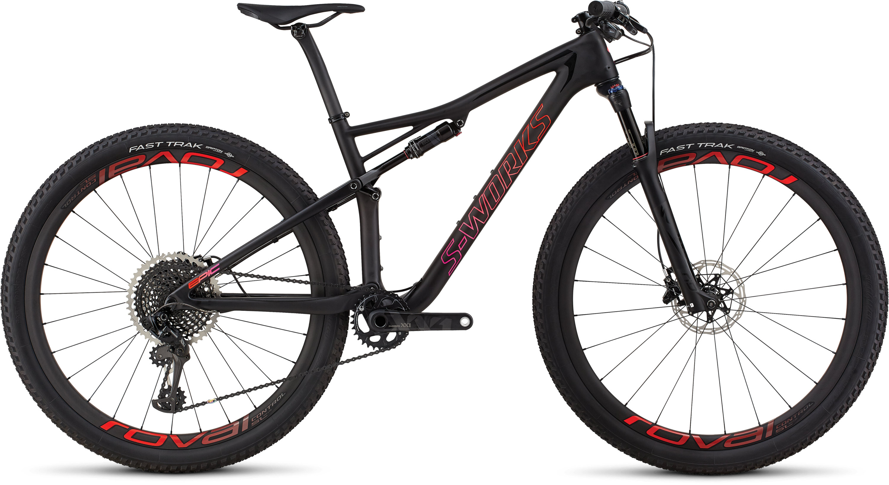 Specialized Women´s S-Works Epic Satin Gloss Blk Tint/Rocket Red Acid Purple Fade L - Pulsschlag Bike+Sport