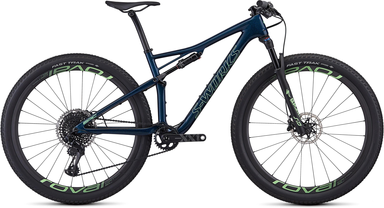 Specialized Women´s S-Works Epic Satin Gloss Chameleon Flake/Acid Kiwi L - Pulsschlag Bike+Sport