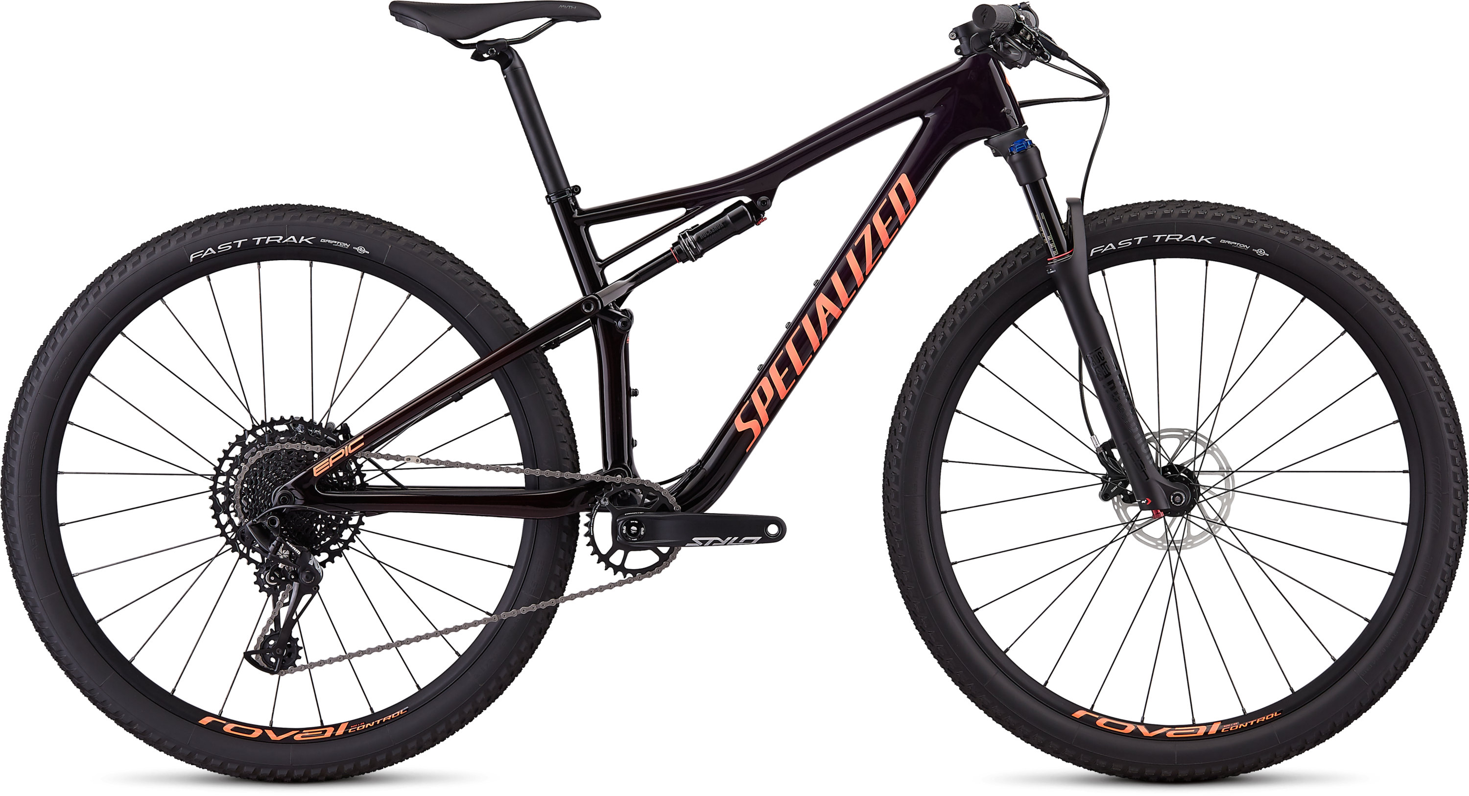 Specialized Women´s Epic Comp Carbon Gloss Satin Purple Tint/Red Tint/Acid Lava L - Pulsschlag Bike+Sport
