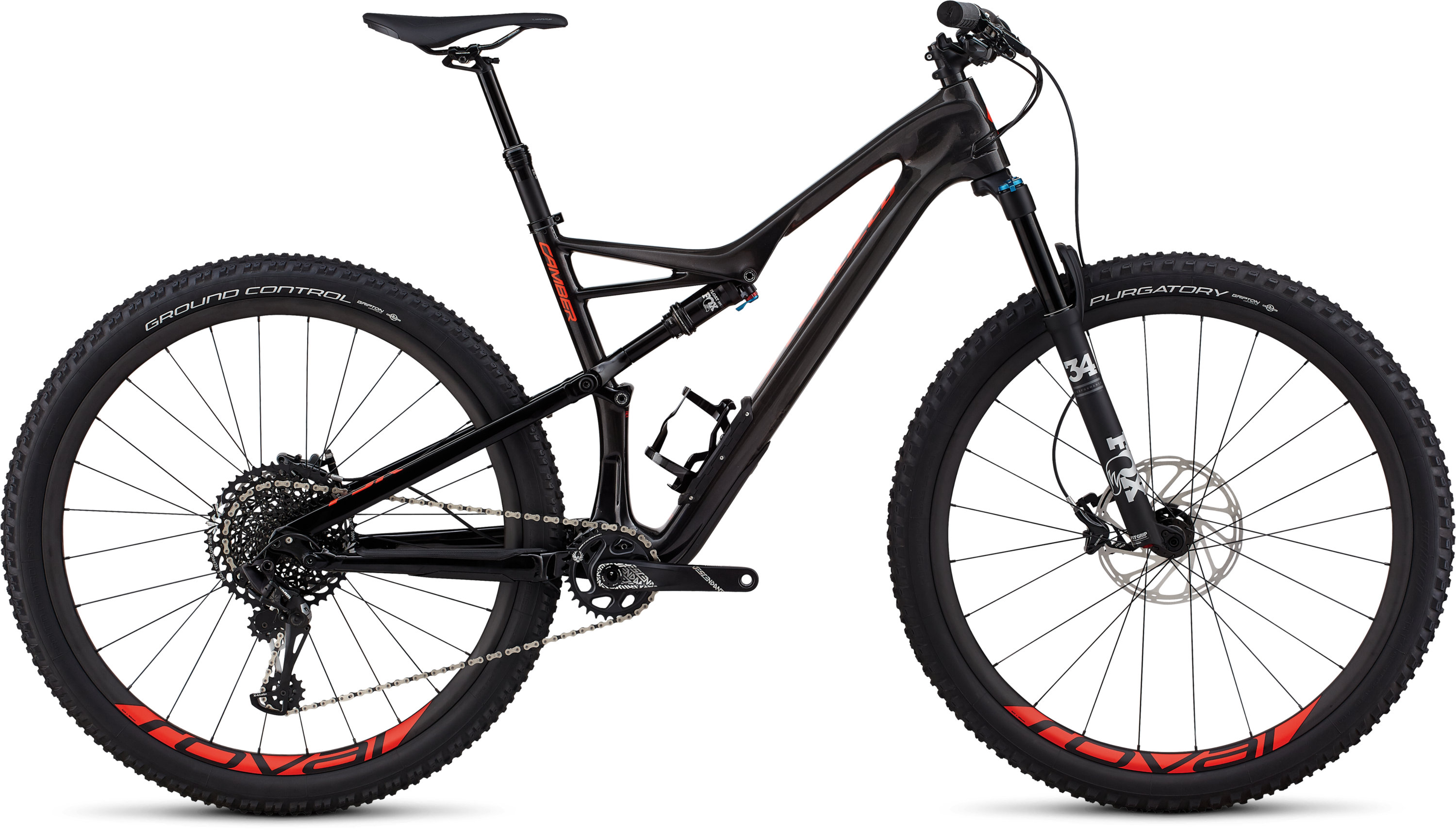 Specialized Men´s Camber Expert 29 GLOSS CARBON / RED FLAKE TINT CARBON / ROCKET RED L - Pulsschlag Bike+Sport
