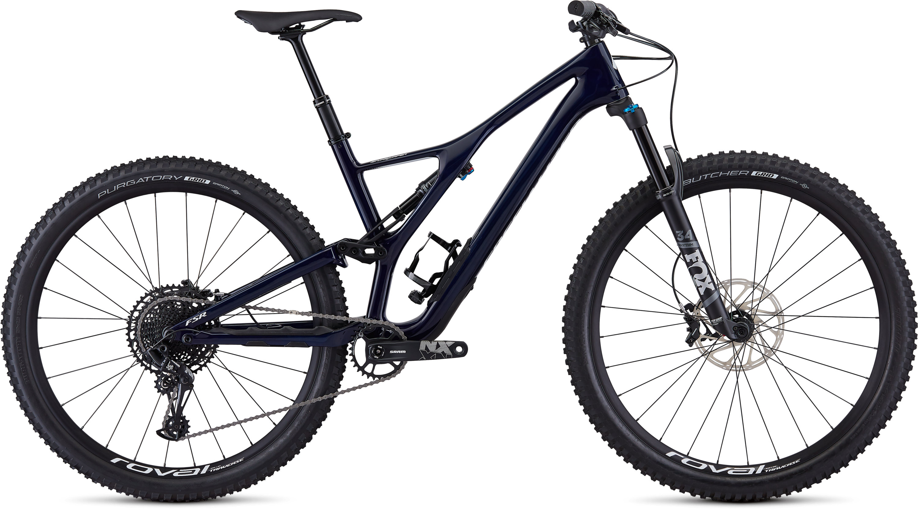 Specialized Men´s Stumpjumper ST Comp Carbon 29 12-speed GLOSS BLUE TINT CARBON / WHITE L - Pulsschlag Bike+Sport