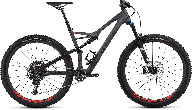 Specialized Stumpjumper Expert 29/6Fattie SATIN SILVER TINT CARBON / BLACK / ROCKET RED CLEAN M - Pulsschlag Bike+Sport