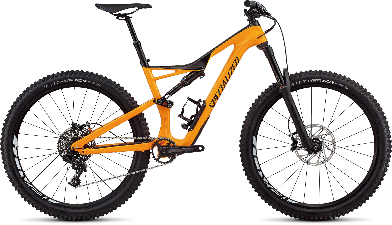 Specialized Stumpjumper Comp Carbon 27.5 GLOSS GALLARDO ORANGE / CARBON / BLACK L - Pulsschlag Bike+Sport