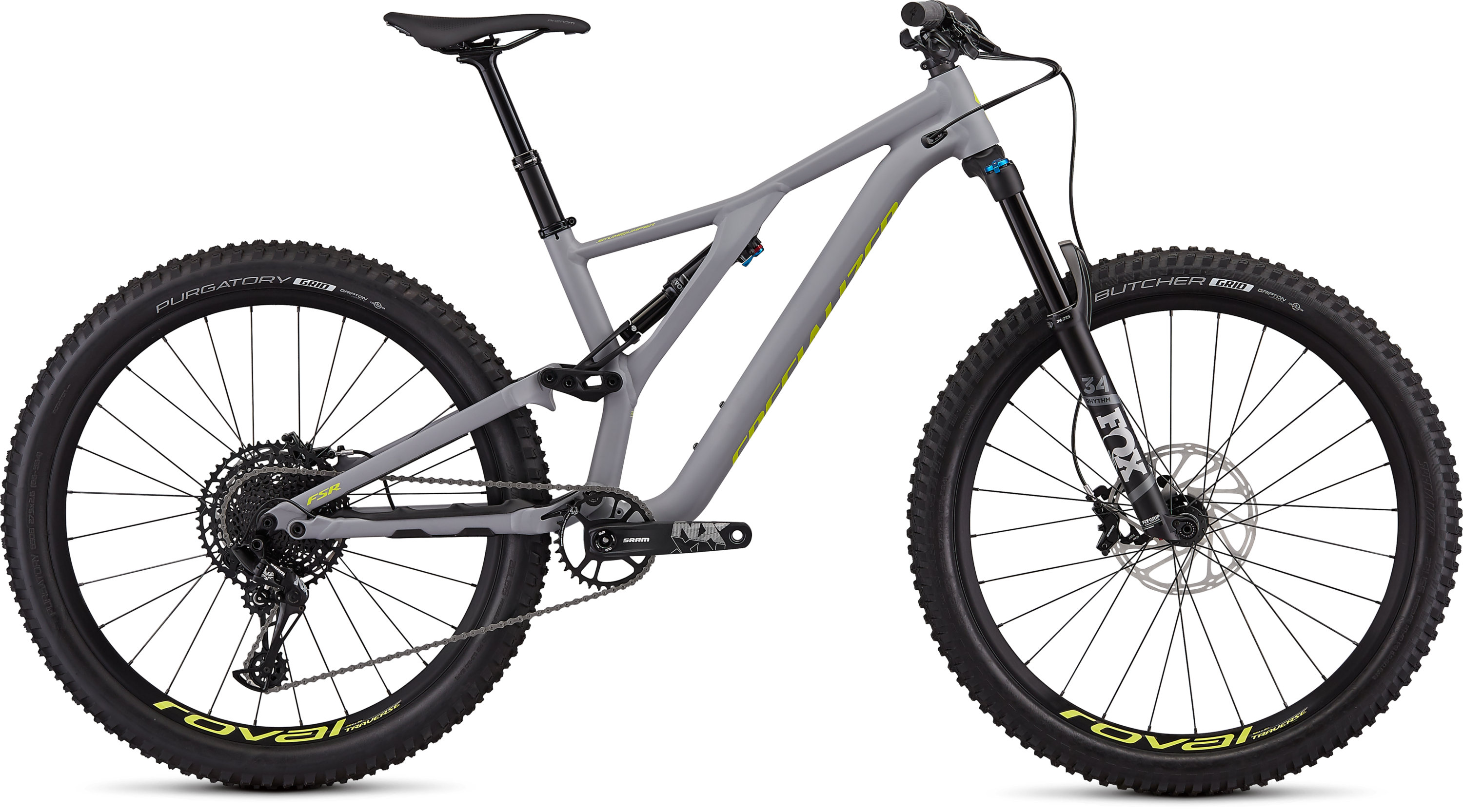 Specialized Men´s Stumpjumper Comp Alloy 27.5  12-speed SATIN COOL GREY / TEAM YELLOW M - Pulsschlag Bike+Sport