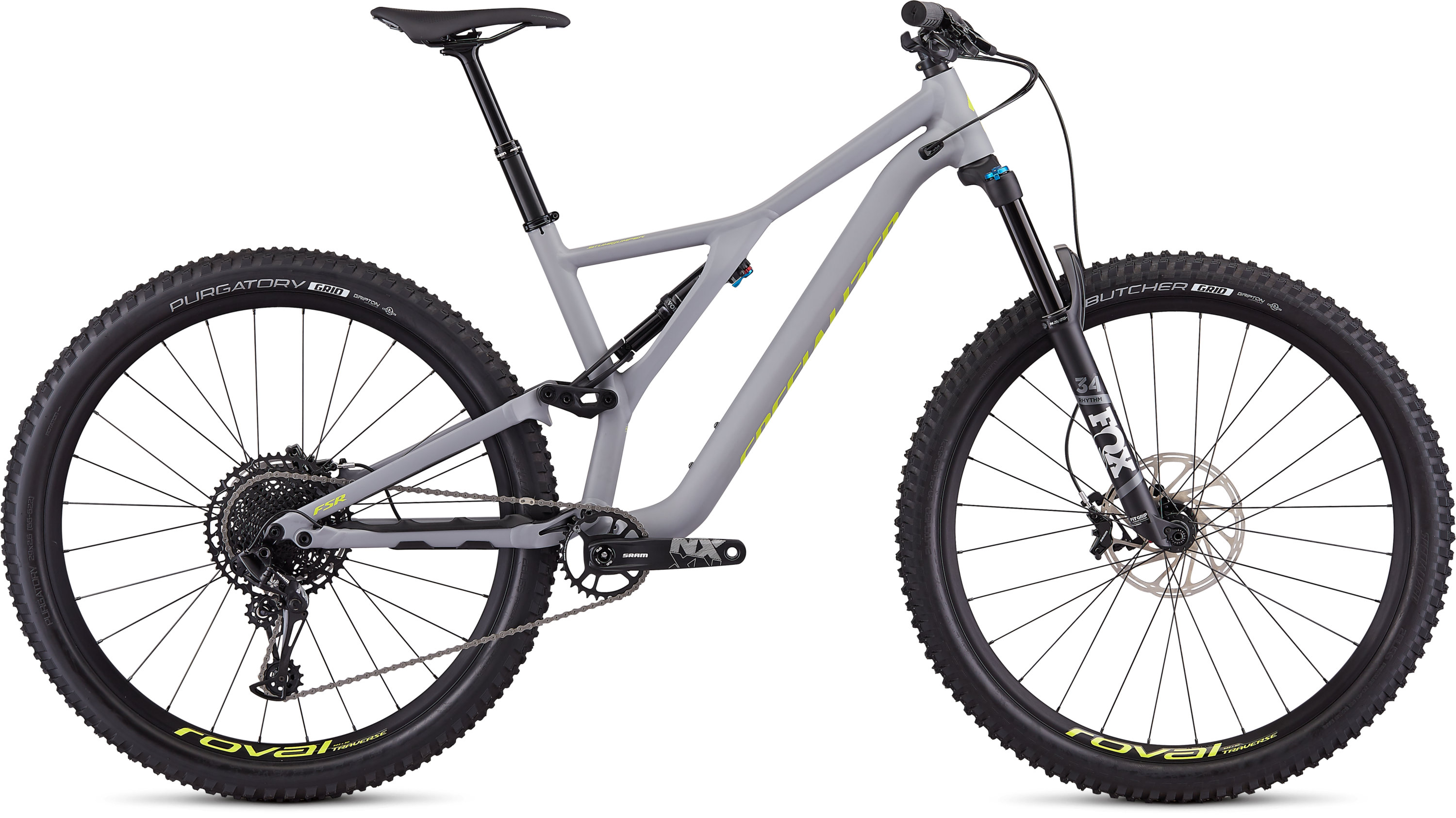 Specialized Men´s Stumpjumper Comp Alloy 29  12-speed SATIN COOL GREY / TEAM YELLOW L - Pulsschlag Bike+Sport