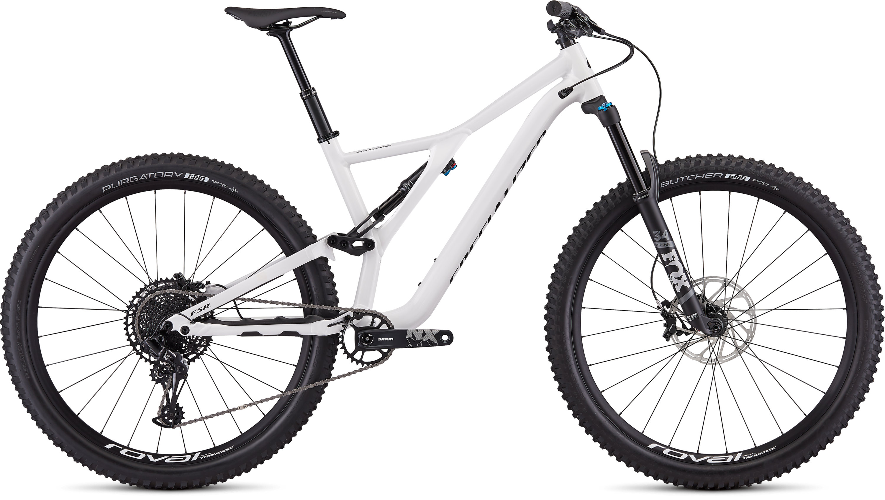Specialized Men´s Stumpjumper Comp Alloy 29  12-speed GLOSS WHITE / TARMAC BLACK L - Pulsschlag Bike+Sport