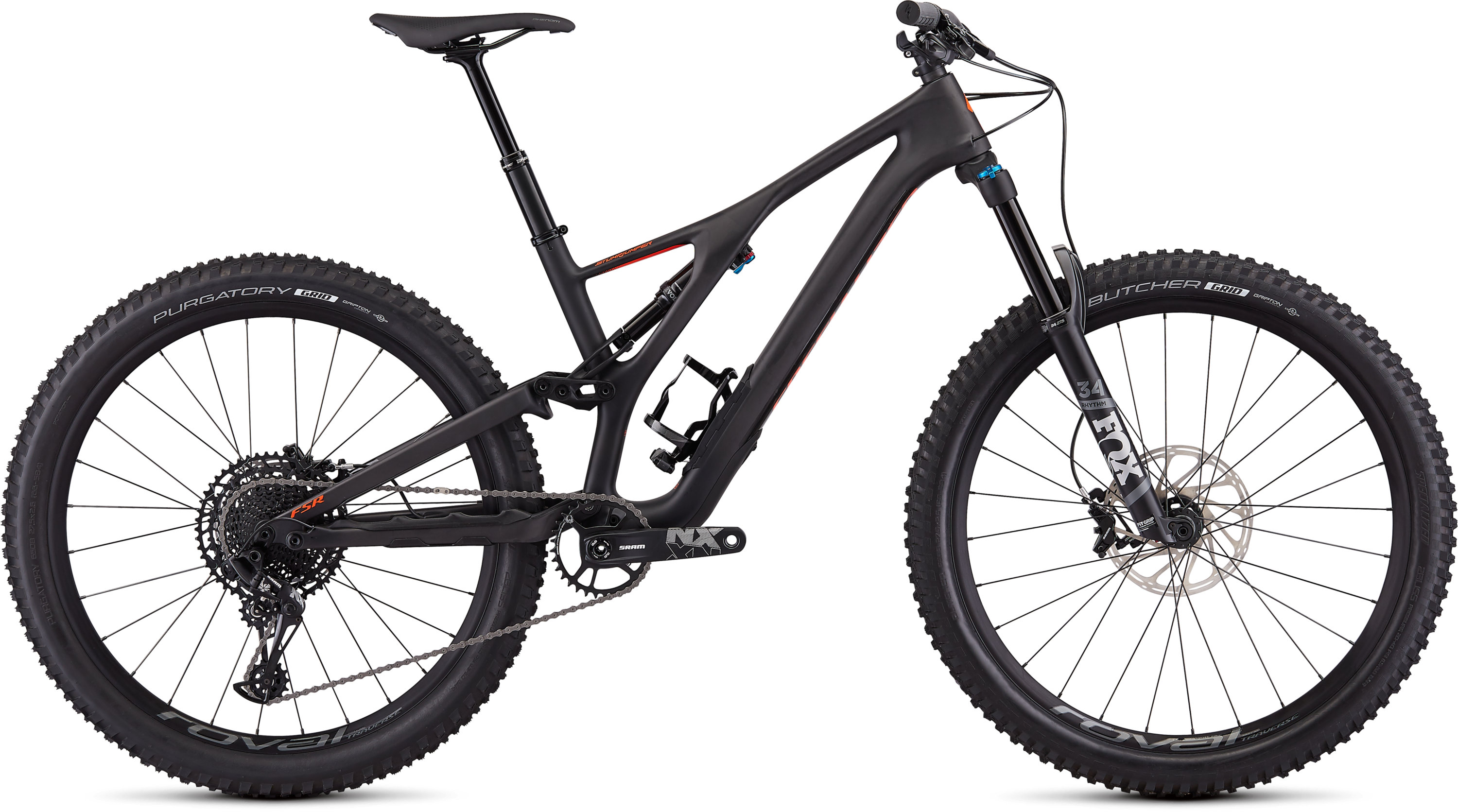 Specialized Men´s Stumpjumper Comp Carbon 27.5—12-speed SATIN CARBON / ROCKET RED M - Pulsschlag Bike+Sport