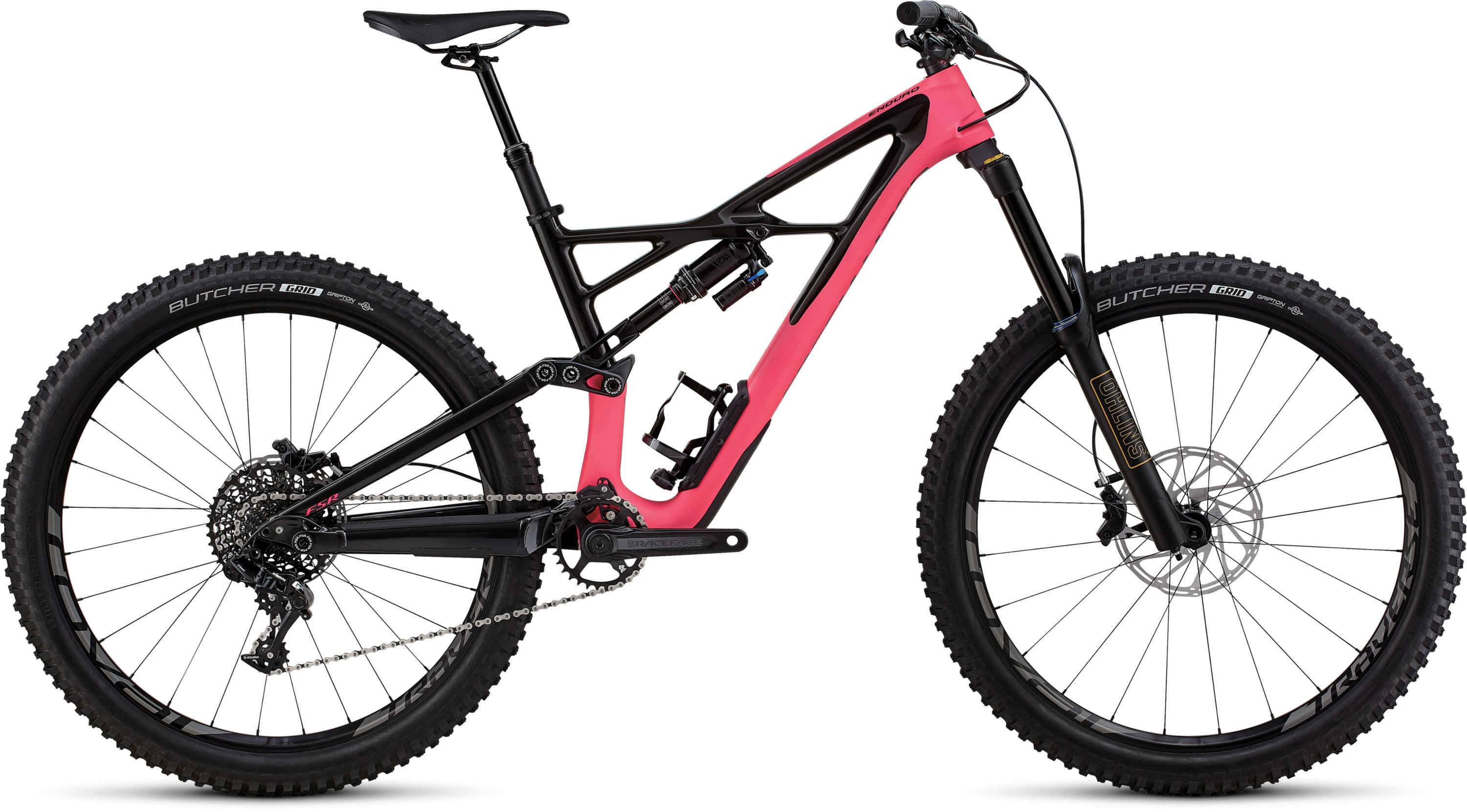 Specialized Enduro Elite 27.5 SATIN GLOSS ACID PINK / CARBON XL - Pulsschlag Bike+Sport