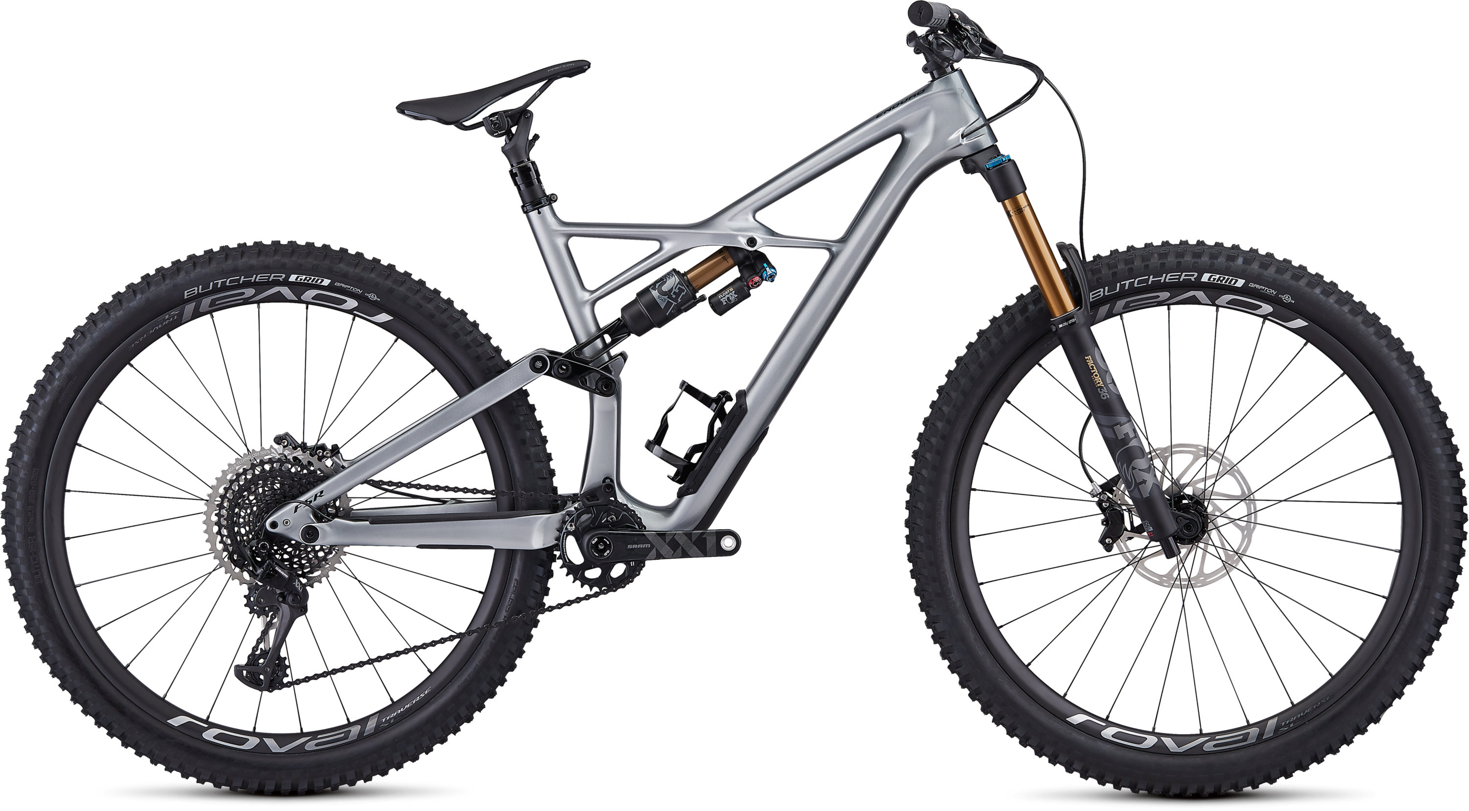 Specialized S-Works Enduro 29 GLOSS FLAKE SILVER FORM FADE/TARMAC BLACK L - Pulsschlag Bike+Sport