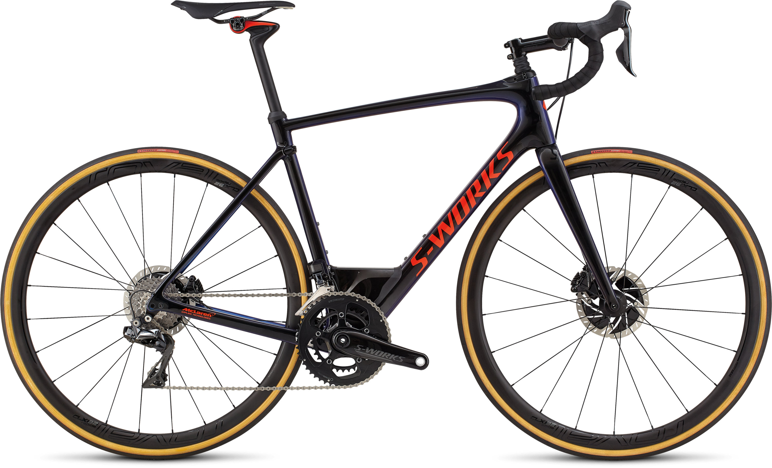 Specialized S-Works Roubaix Dura-Ace Di2 GLOSS TARMAC BLK/CHAMELEON EDGE FADE/RKT RED/CLEAN 58 - Pulsschlag Bike+Sport
