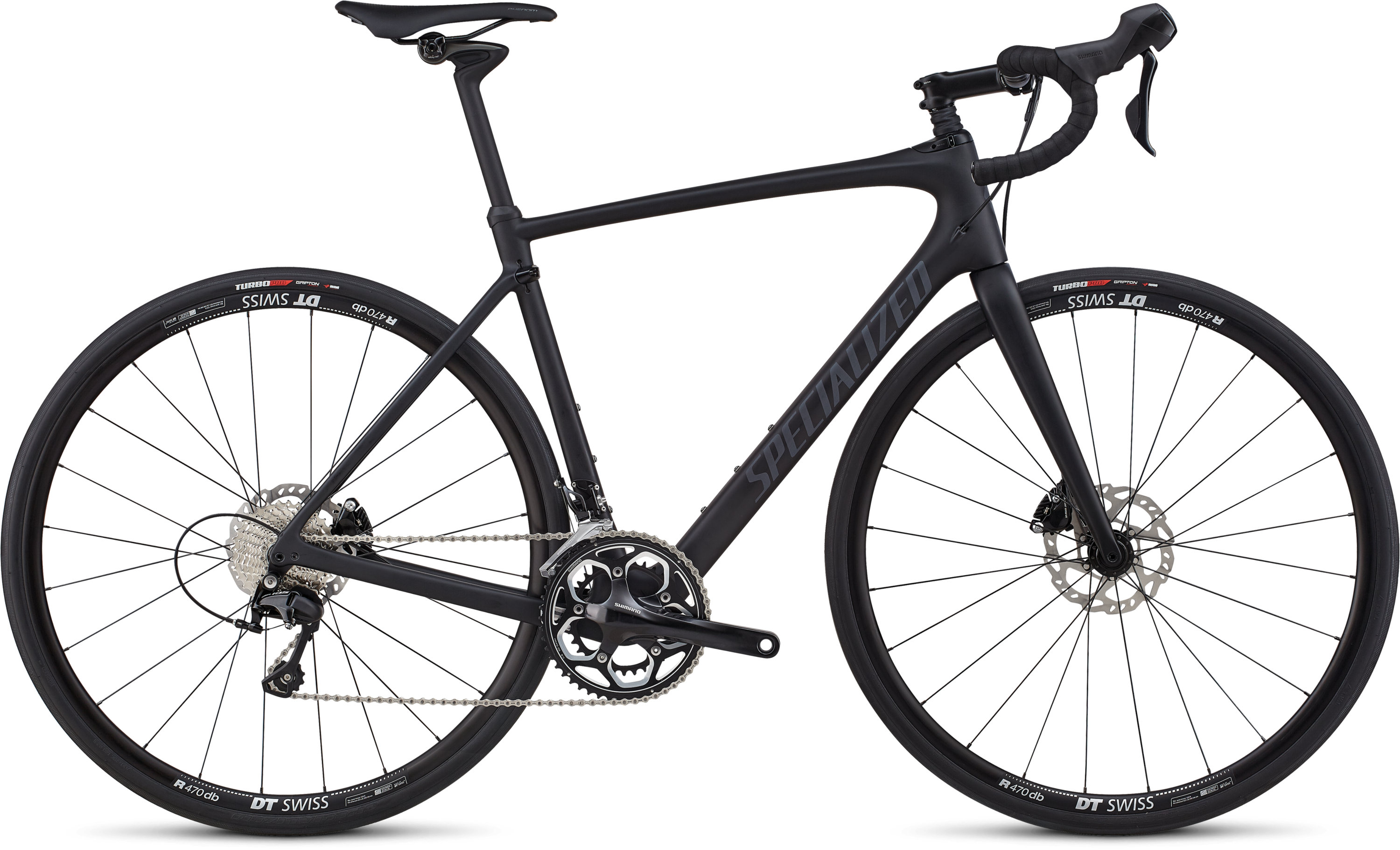 Specialized Roubaix Elite Satin Black / Gloss Black / Black Ref/Clean 49 - Pulsschlag Bike+Sport