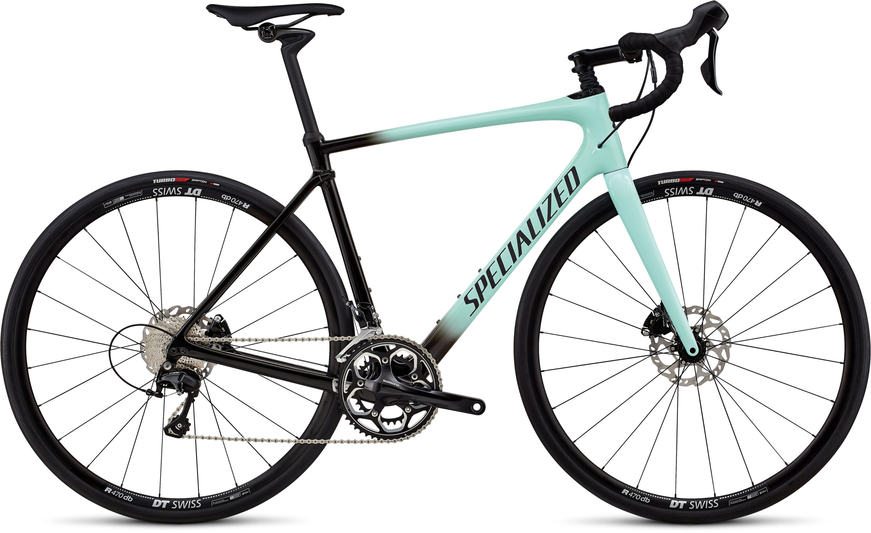 Specialized Roubaix Elite Gloss Mint/Tarmac Blk Fade/Blk Ref/Clean 58 - Pulsschlag Bike+Sport