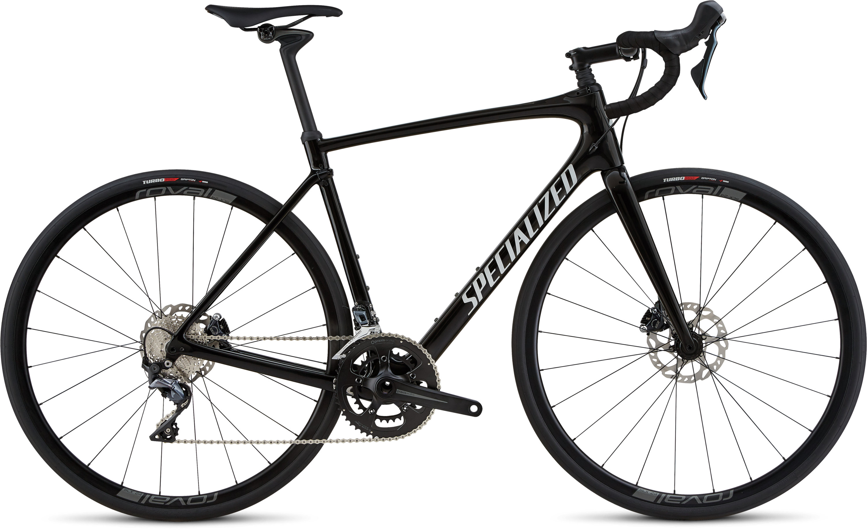 Specialized Roubaix Comp Gloss Tarmac Black / White Reflective / Clean 49 - Pulsschlag Bike+Sport