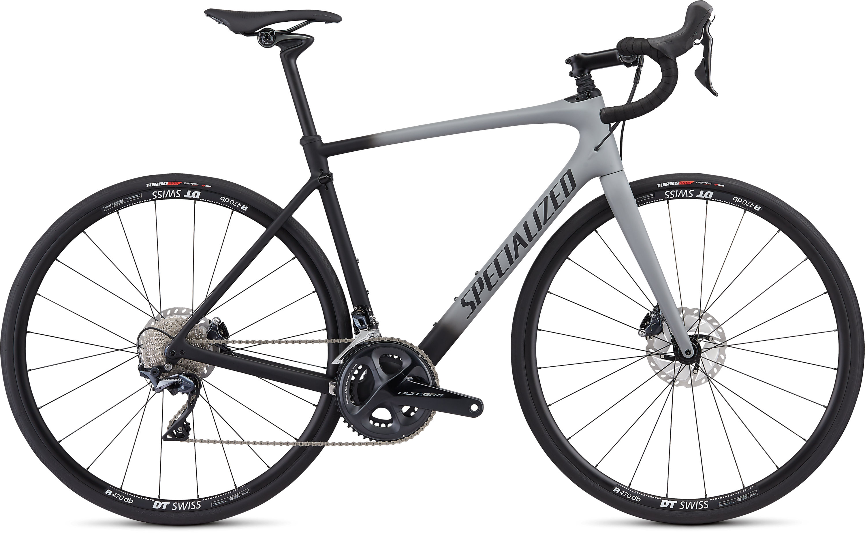 Specialized Roubaix Comp Satin Cool Grey/Black Fade/Clean 49 - Pulsschlag Bike+Sport