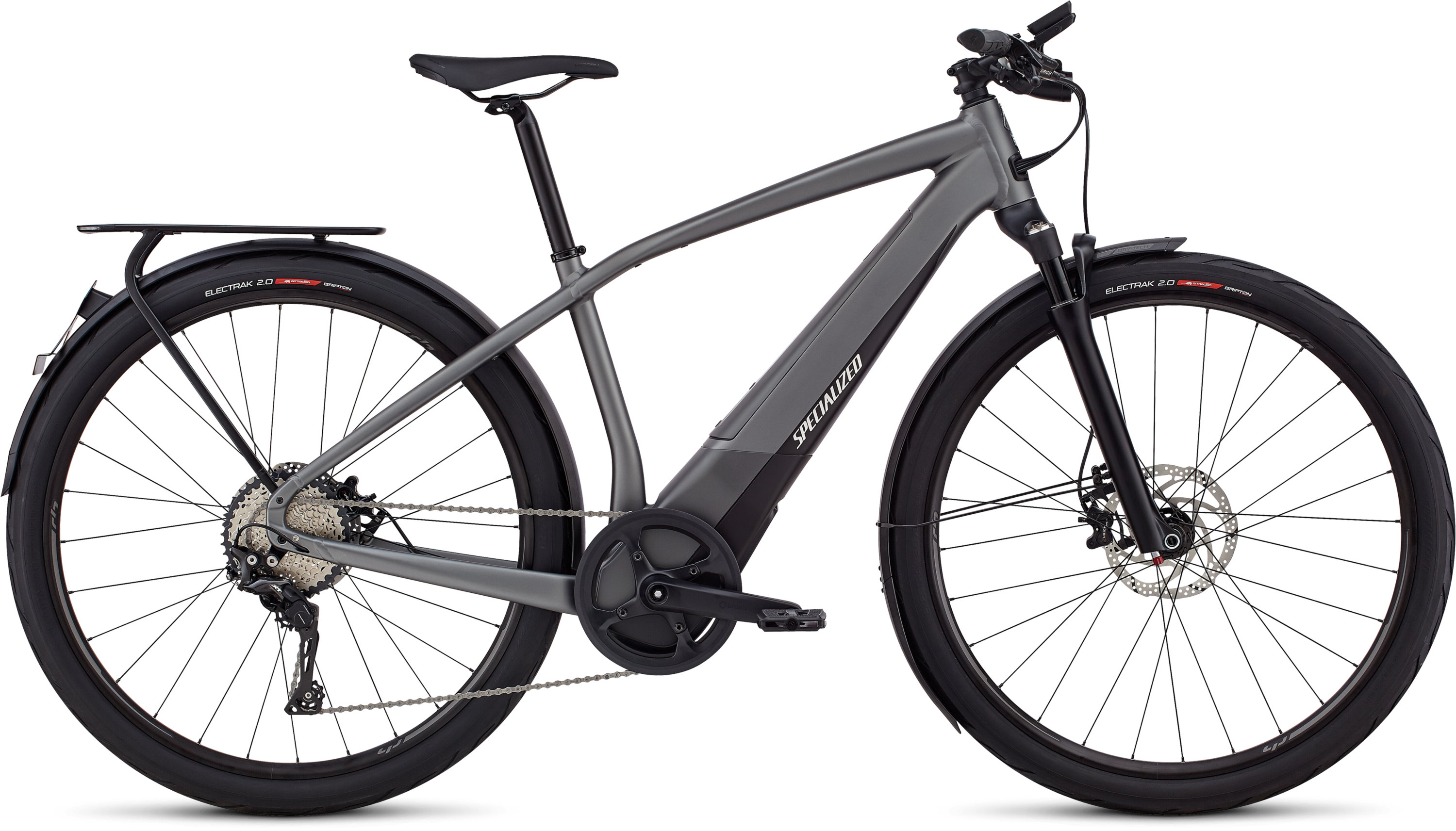 Specialized Men´s Turbo Vado 6.0 Gloss Charcoal / Black / Chrome LG - Specialized Men´s Turbo Vado 6.0 Gloss Charcoal / Black / Chrome LG