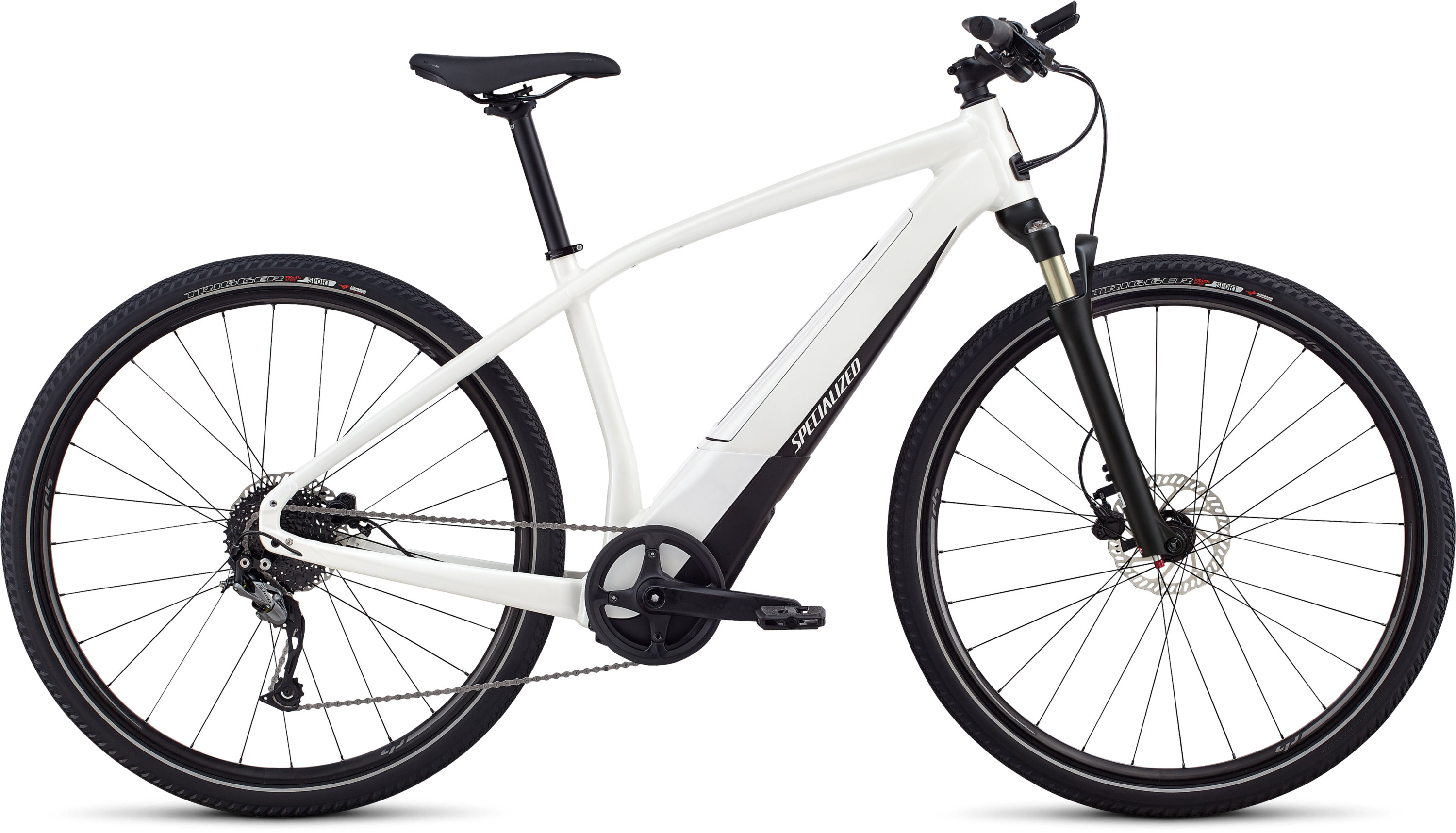 Specialized Men´s Turbo Vado 2.0 Satin Metallic White Silver / Black LG - Pulsschlag Bike+Sport