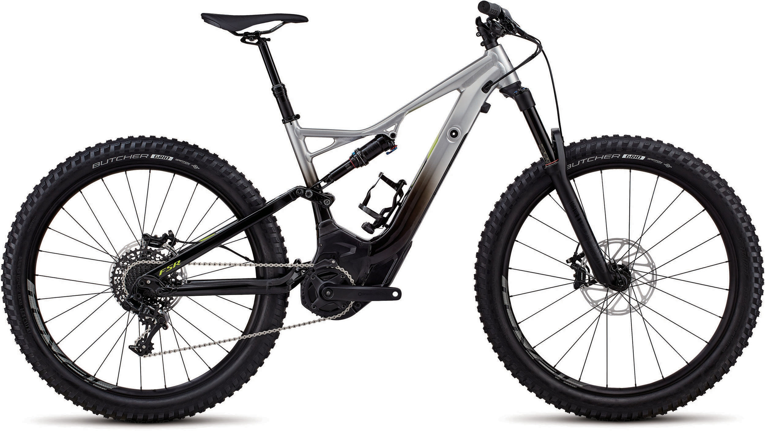 Specialized Men´s Turbo Levo FSR Comp 6Fattie/29 Flake Silver Fade / Black / Hyper L - Pulsschlag Bike+Sport