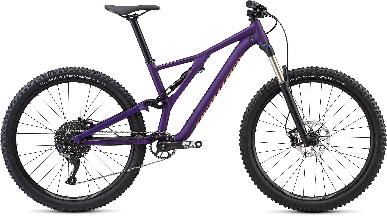 Specialized Women´s Stumpjumper ST Alloy 27.5 Satin Gloss /Plum Purple/Acid Lava L - Pulsschlag Bike+Sport
