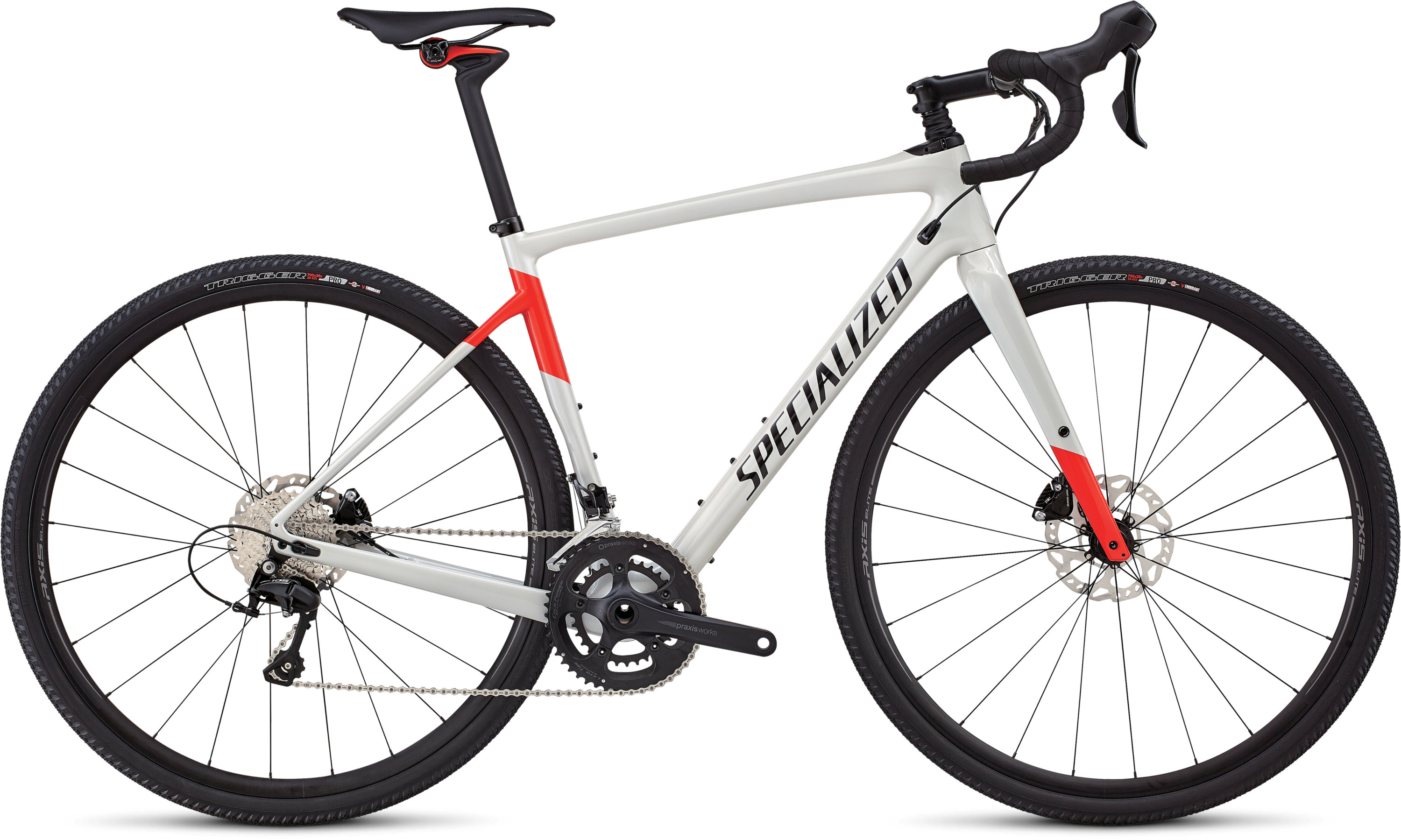 Specialized Men´s Diverge Comp Gloss Dirty White/Rocket Red/Tarmac Black 48 - Pulsschlag Bike+Sport