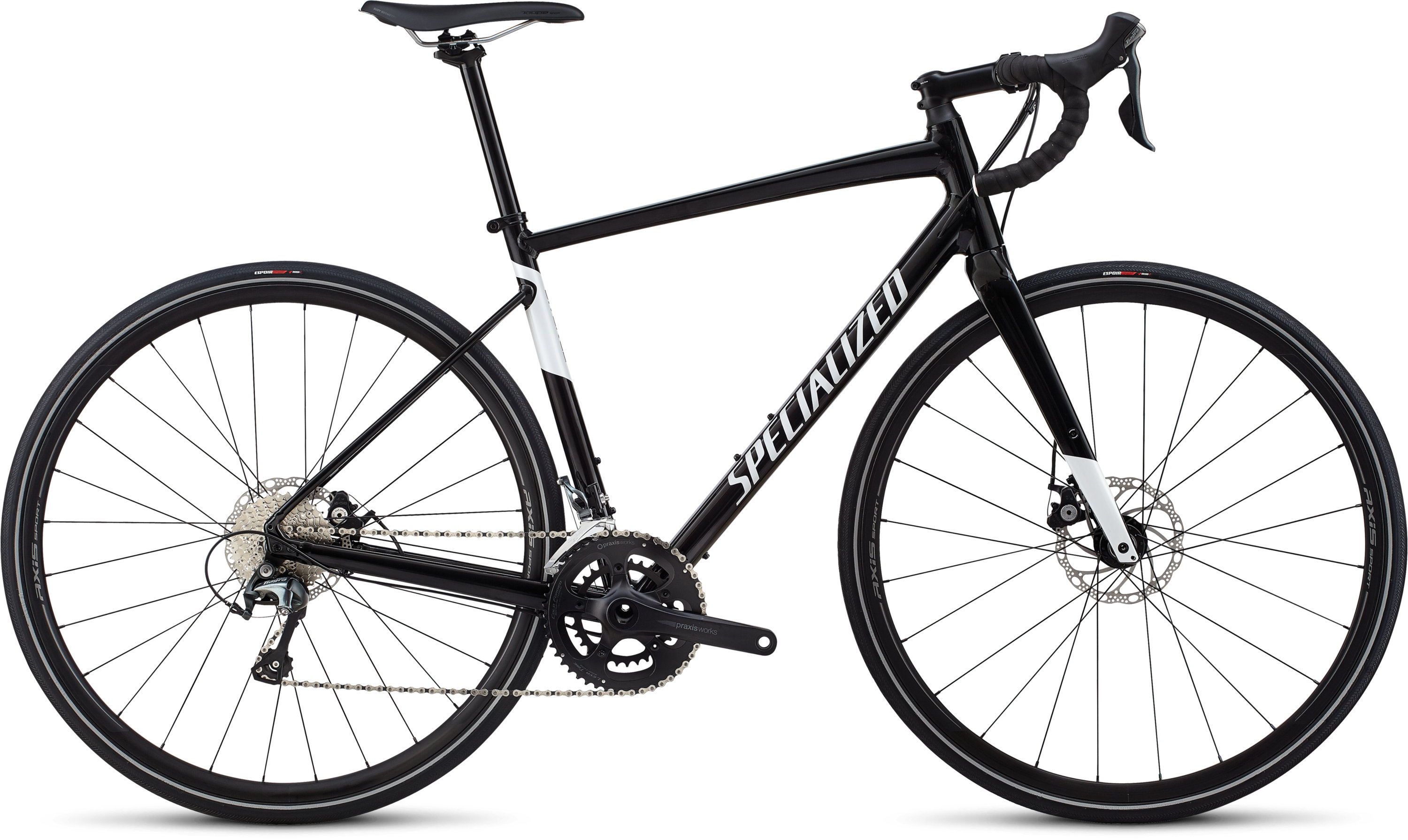 Specialized Men´s Diverge E5 Elite Gloss Tarmac Black/Metallic White Silver 58 - Bartz Bikesystem & Velodepot