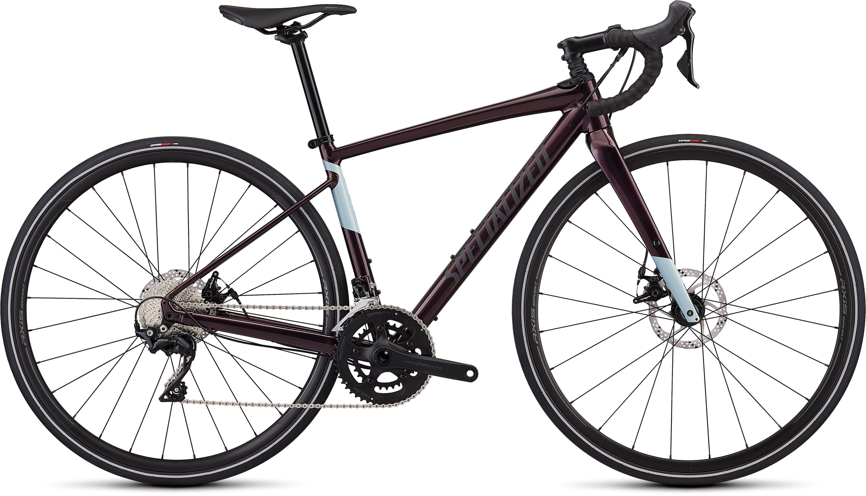 Specialized Women´s Diverge E5 Comp Gloss Cast Berry/Storm/Ice Blue 44 - Pulsschlag Bike+Sport