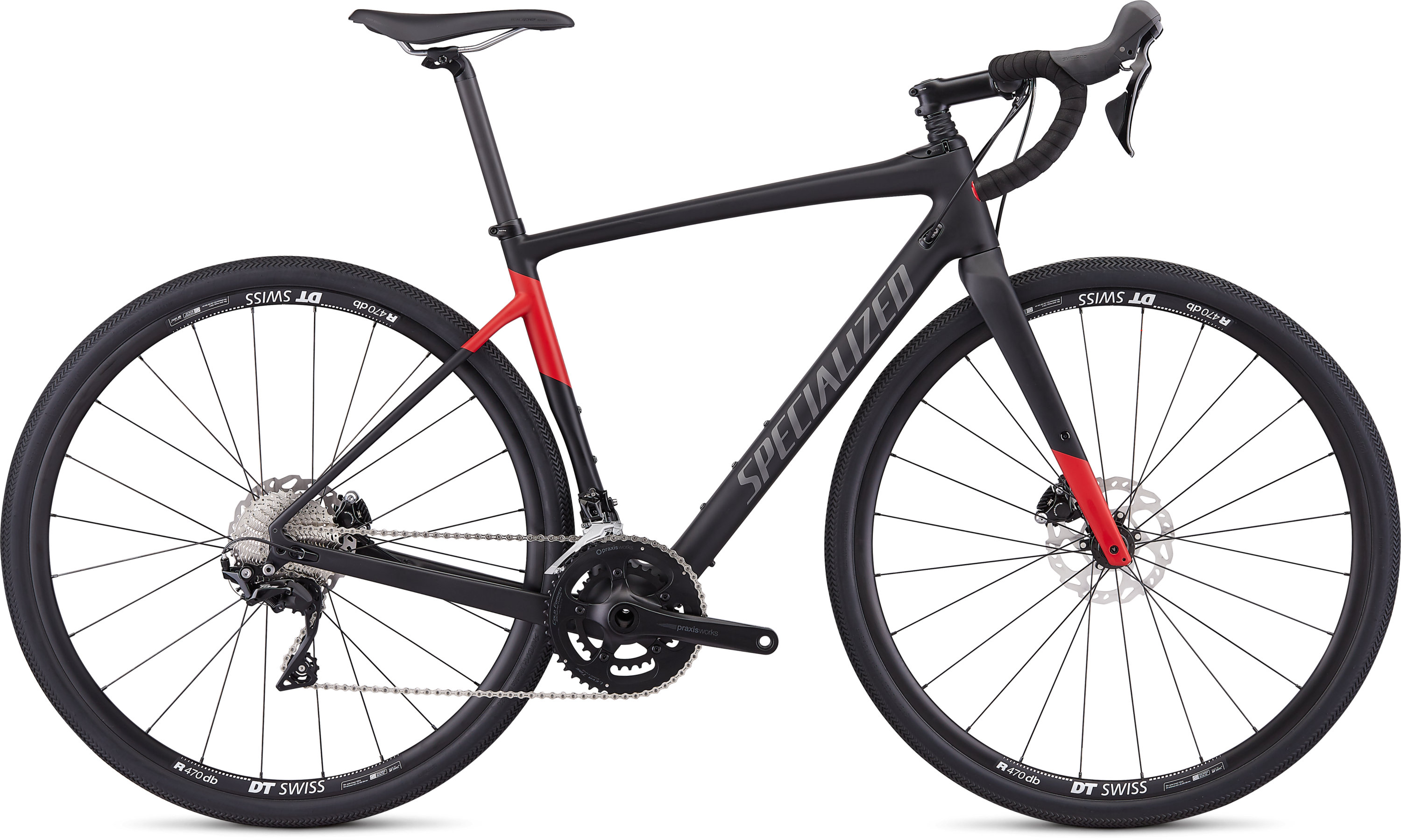 Specialized Men´s Diverge Sport Satin Tarmac Black/Flo Red 48 - Pulsschlag Bike+Sport