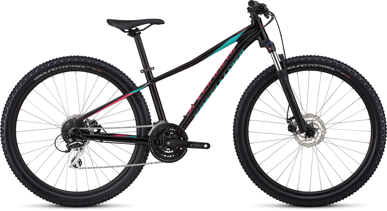 Specialized Women´s Pitch Sport 27.5 Gloss Tarmac Black/Acid Mint/Acid Pink/Reflec L - Pulsschlag Bike+Sport