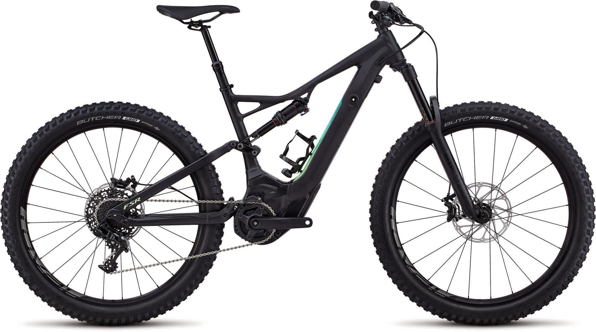 Specialized Women´s Turbo Levo FSR Comp 6Fattie Satin Tarmac Black / Cali Fade L - Pulsschlag Bike+Sport