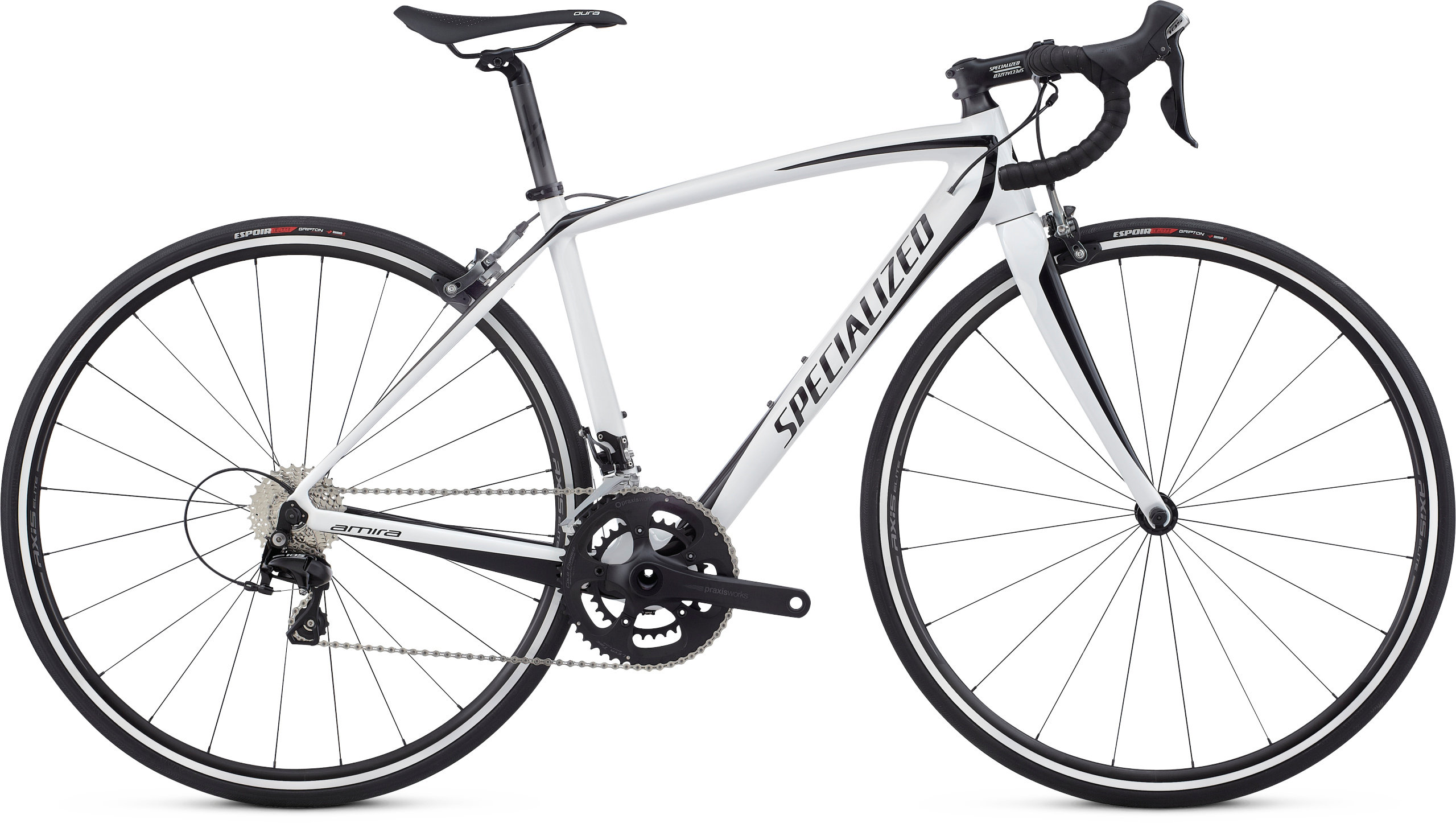 Specialized Amira SL4 Sport WHITE/TARMAC BLACK 44 - Pulsschlag Bike+Sport