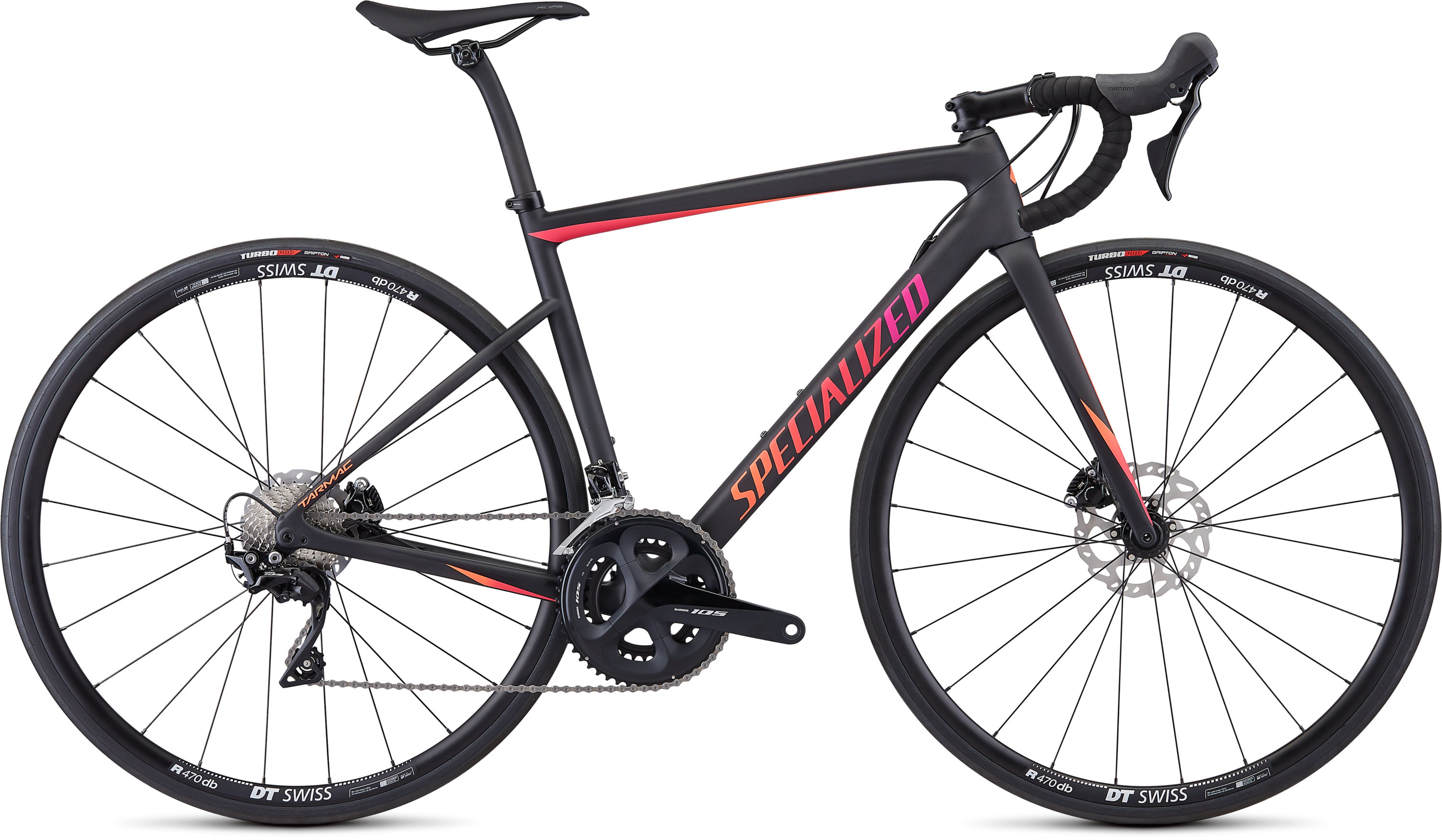 Specialized Women´s Tarmac Disc Sport Satin Carbon/Gloss Acid Purple-Acid Lava 44 - Pulsschlag Bike+Sport
