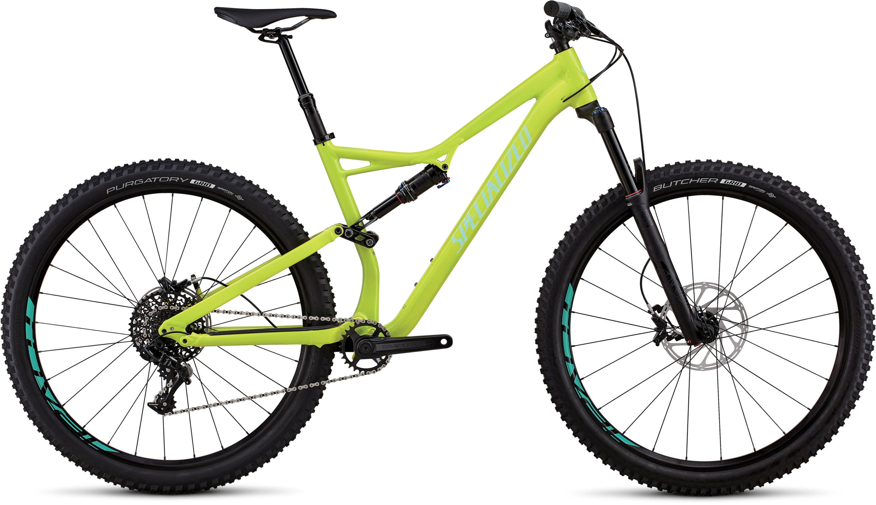 Specialized Stumpjumper Comp Alloy 29/6Fattie GLOSS HYPER / MINT CLEAN L - Pulsschlag Bike+Sport