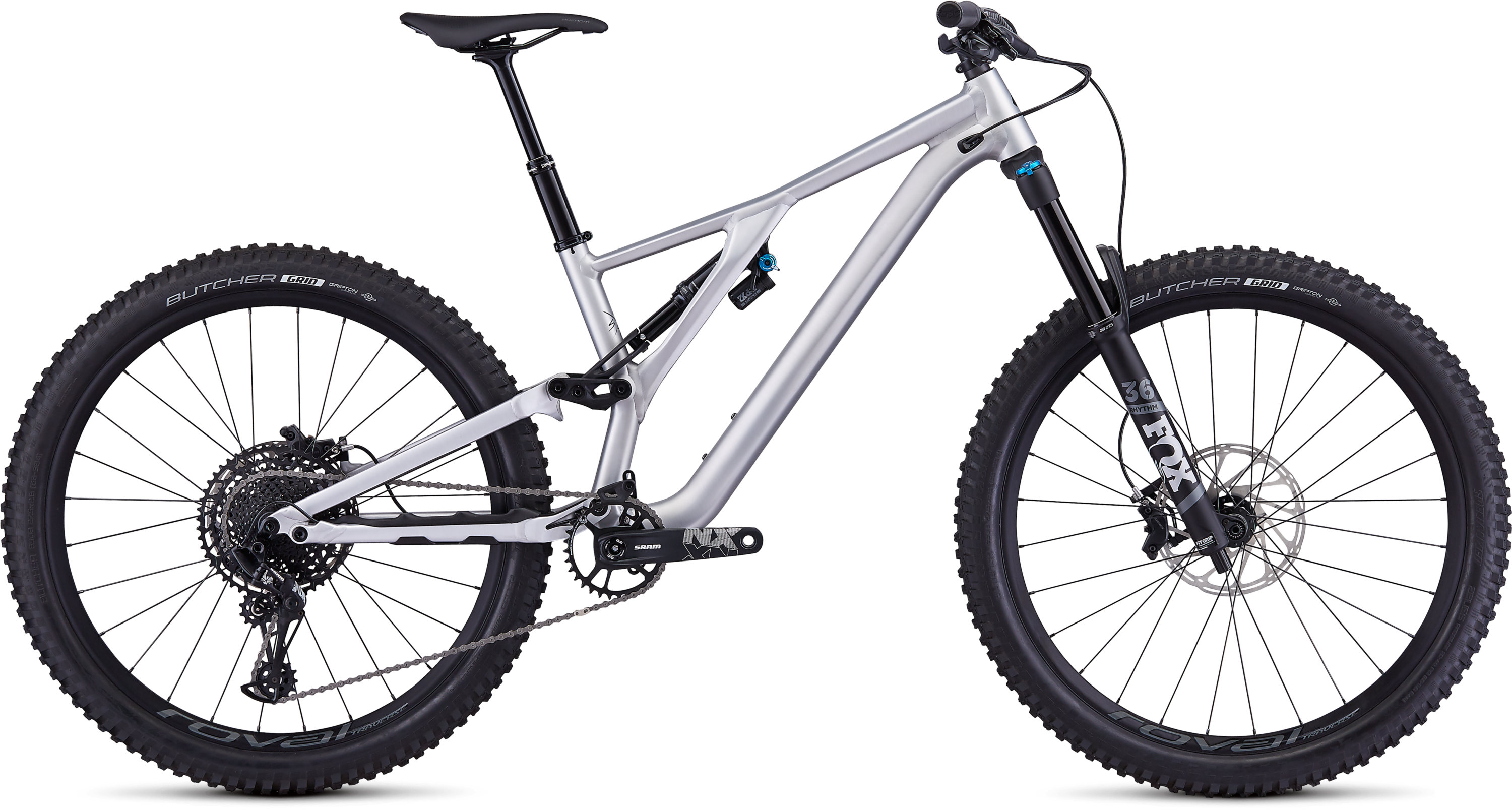 Specialized Men´s Stumpjumper EVO Comp Alloy 27.5 Satin Brushed/Black S2 - Pulsschlag Bike+Sport