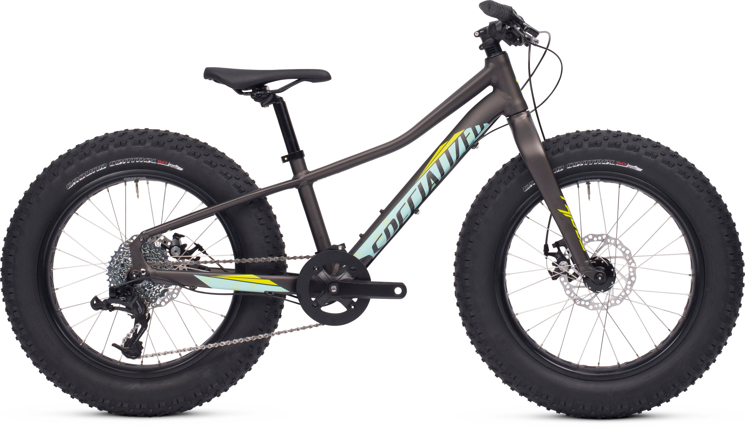 Specialized Fatboy 20 Satin Warm Charcoal/Teal/Hyper 11 - Pulsschlag Bike+Sport