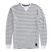 Boy's Spinner Stripe Thermal - White