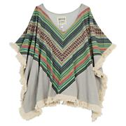 Women's Good Hearted Poncho Fleece - Pattern
