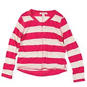 Girls' Flashback Stripe Long Sleeve Top - Pink