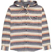 Men's Venice LS Woven Shirt - Orange Patterned